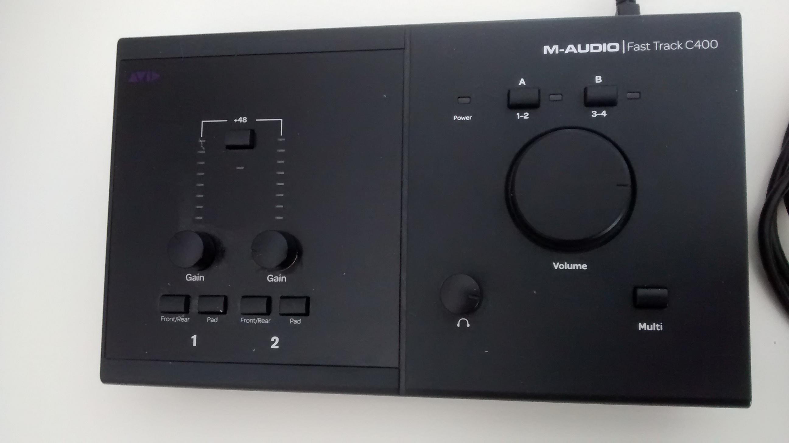 photo m audio fast track c400 m audio fast track c400 64580 928866 audiofanzine. Black Bedroom Furniture Sets. Home Design Ideas