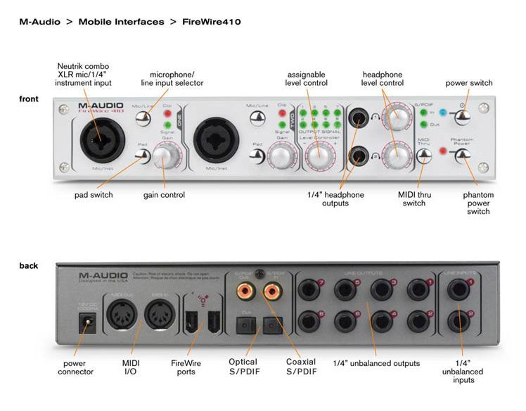m audio firewire 410 image 288924 audiofanzine. Black Bedroom Furniture Sets. Home Design Ideas