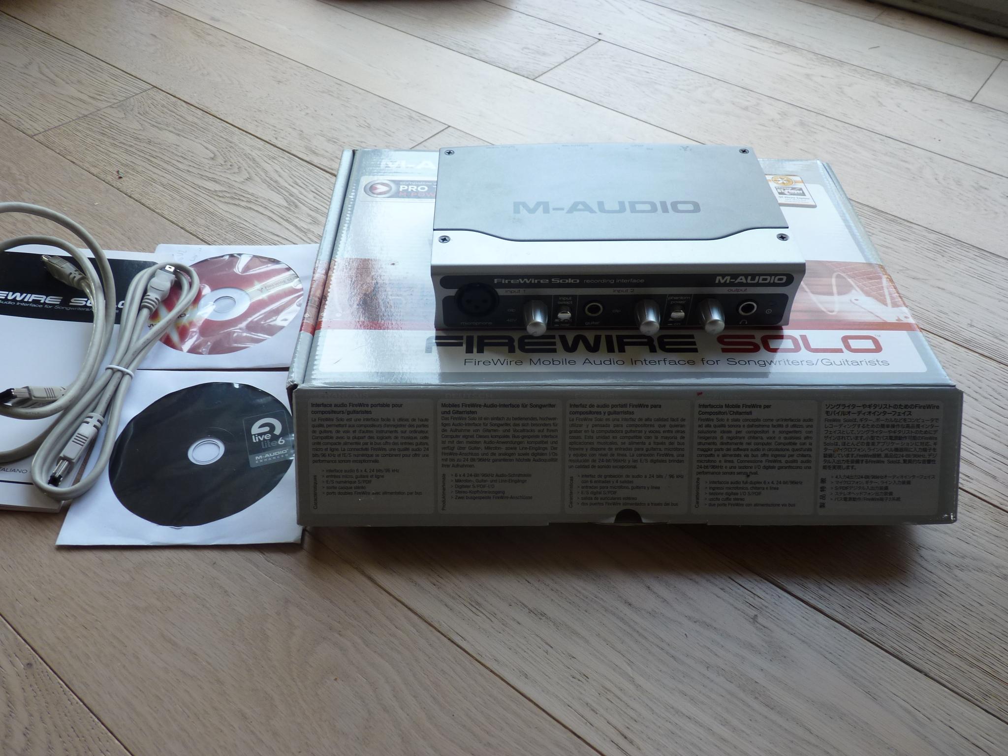 achat m audio firewire solo d 39 occasion audiofanzine. Black Bedroom Furniture Sets. Home Design Ideas