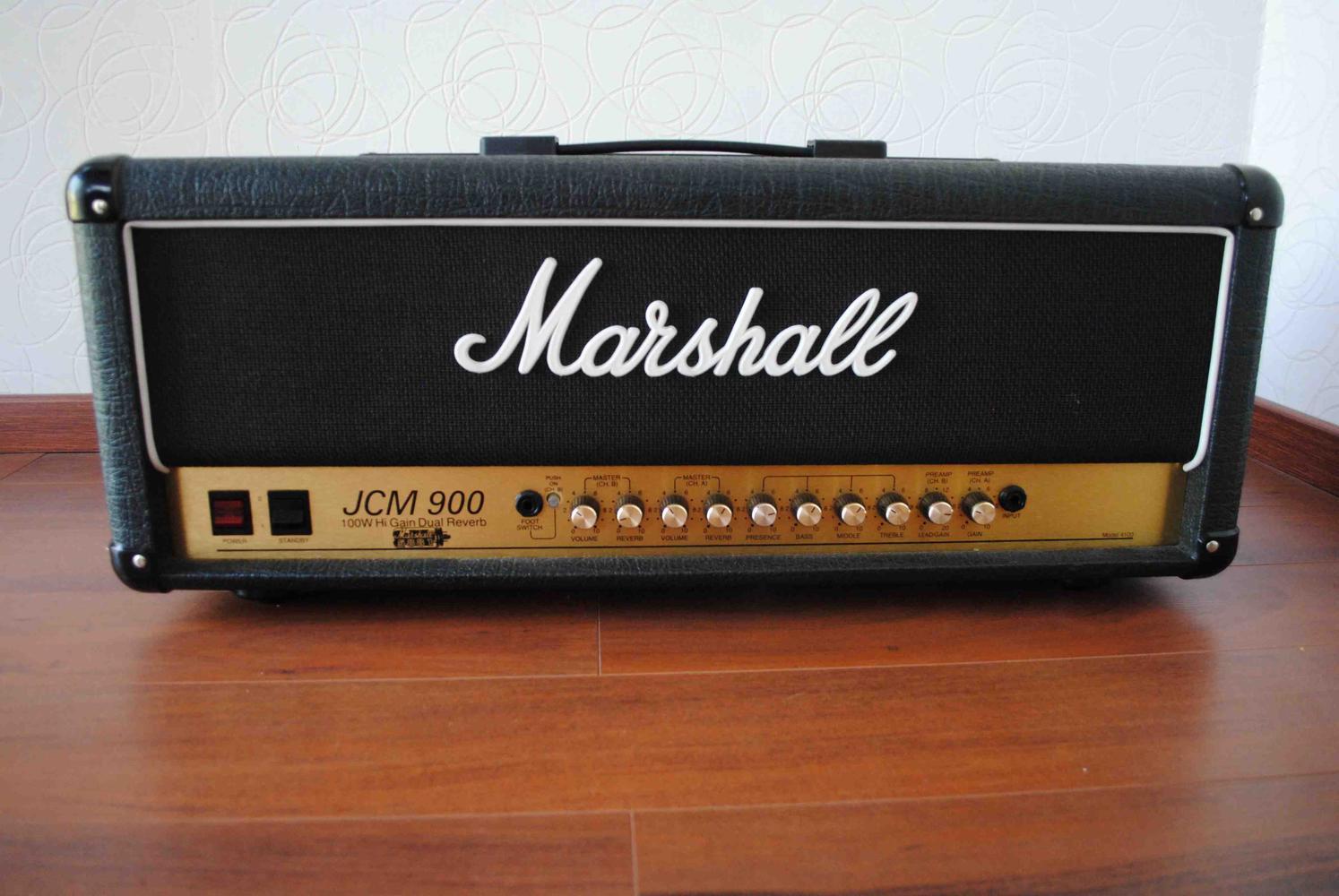 photo marshall 4100 jcm900 dual reverb 1990 1999 2003. Black Bedroom Furniture Sets. Home Design Ideas