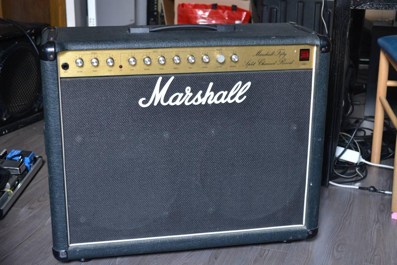 Marshall Fifty Split Channel Reverb 5212 Combo Vinyl Amp