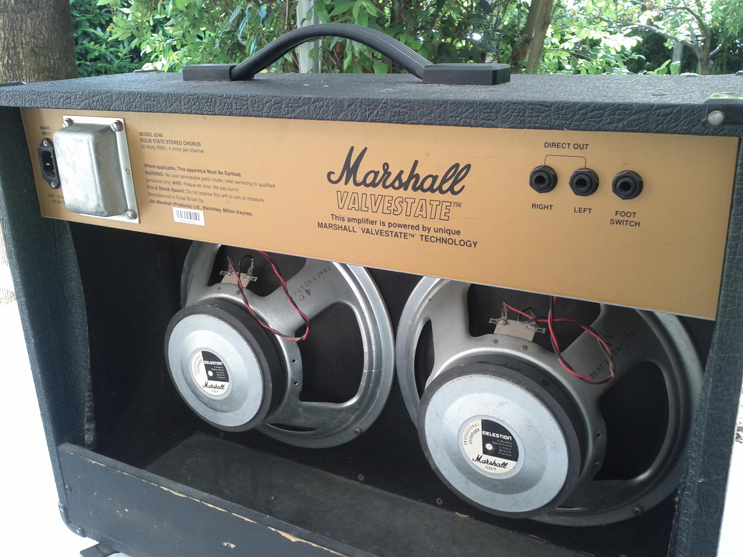 marshall 8240 valvestate s80 stereo chorus image 1139731 rh en audiofanzine com Weber Speakers Celestion Speakers Logo
