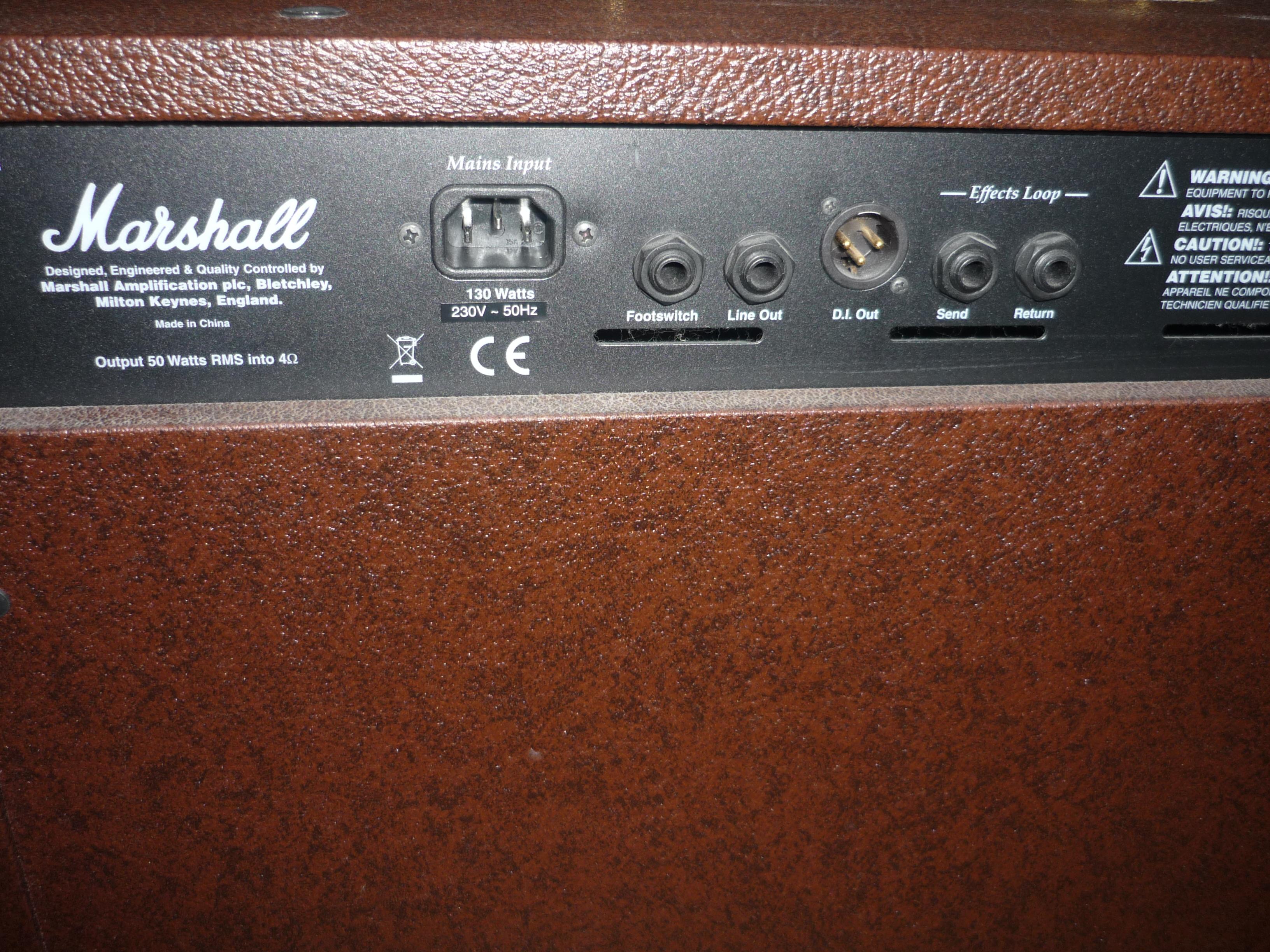 photo marshall as50r marshall acoustic soloist series. Black Bedroom Furniture Sets. Home Design Ideas
