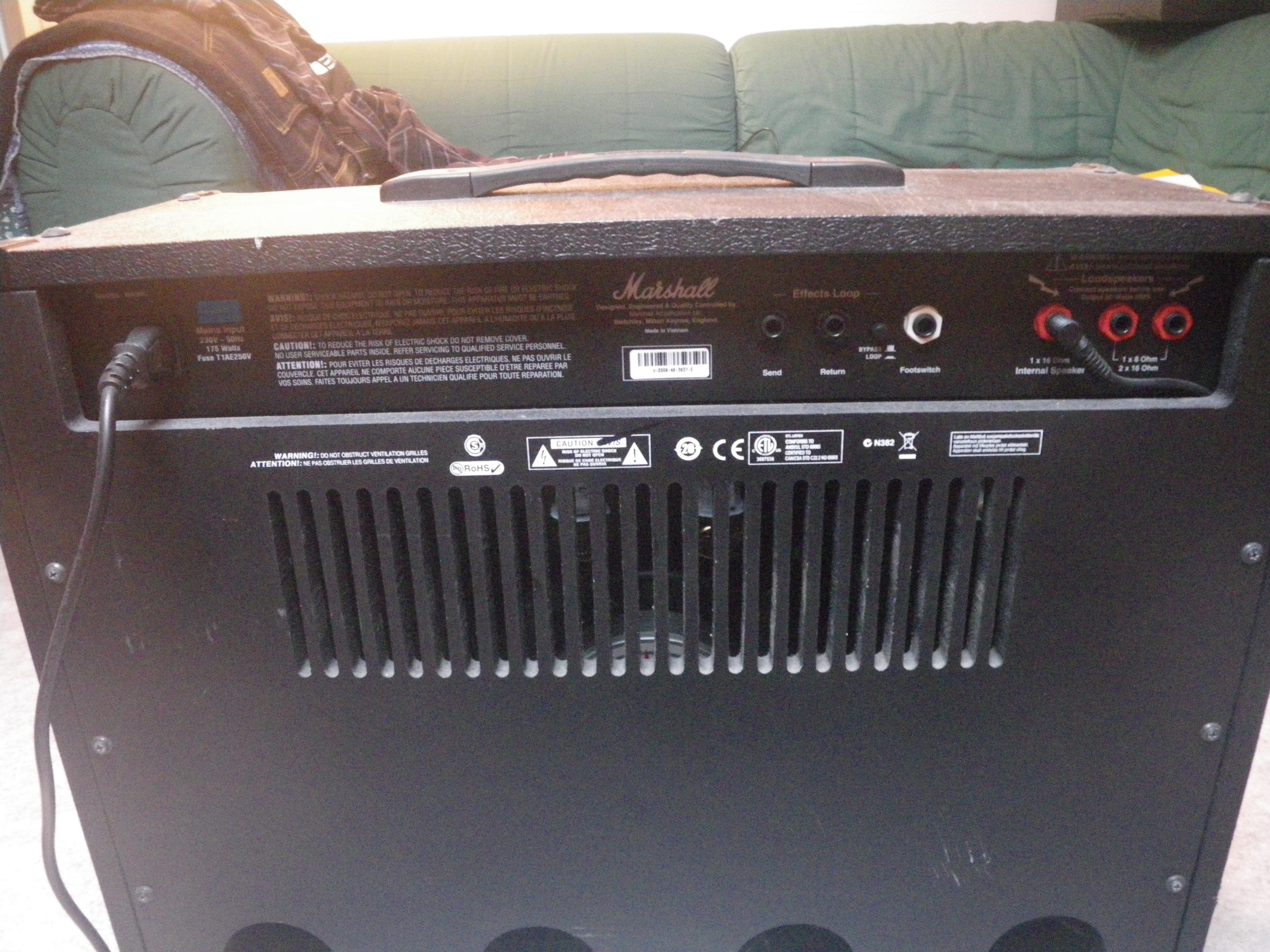 Ampli Marshall A Lampe Ma50c Bretagne Audiofanzine