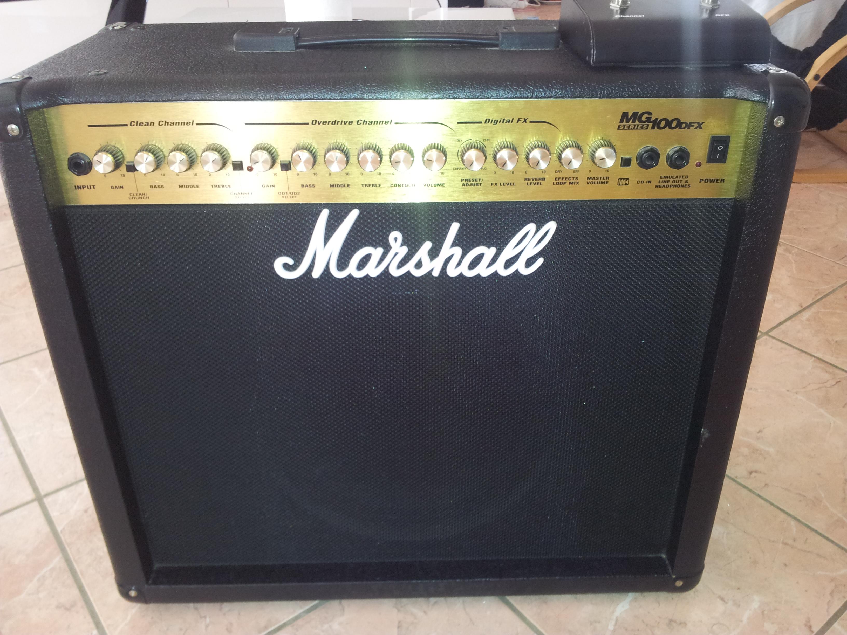 marshall mg100dfx image 617820 audiofanzine. Black Bedroom Furniture Sets. Home Design Ideas