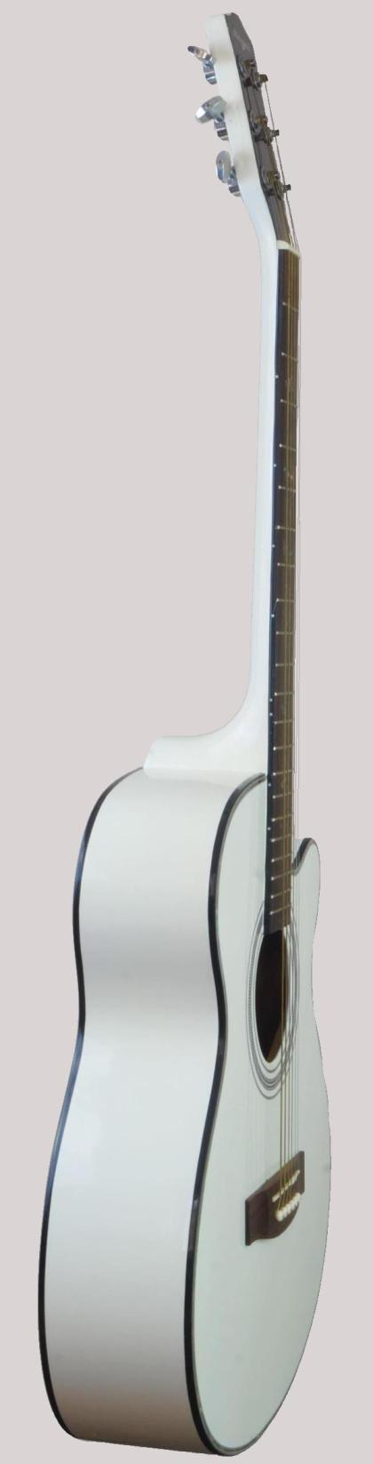 white chinese guitar with bird fret markers