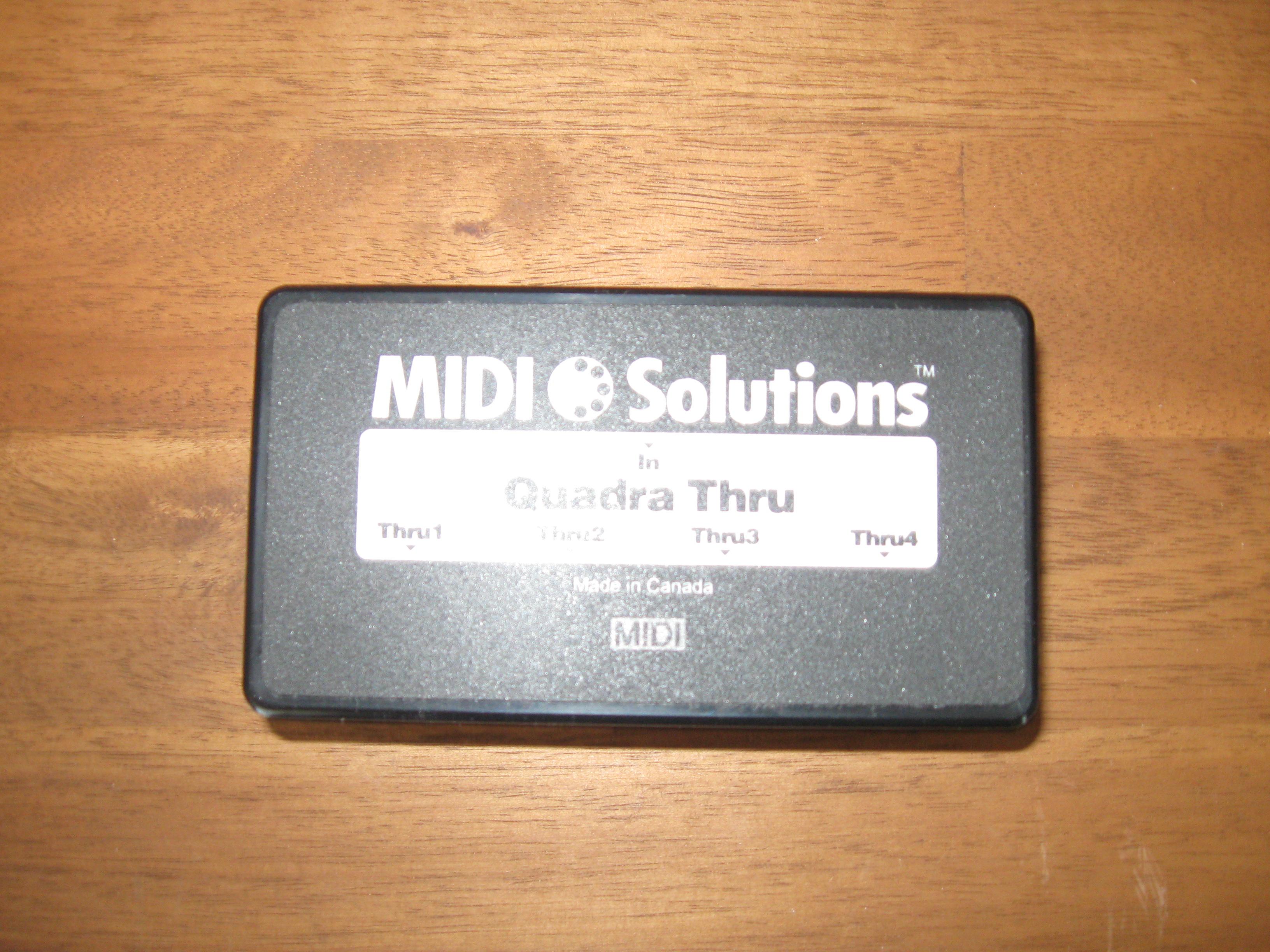 Midi Solutions Quadra Thru : midi solutions quadra thru image 639100 audiofanzine ~ Hamham.info Haus und Dekorationen