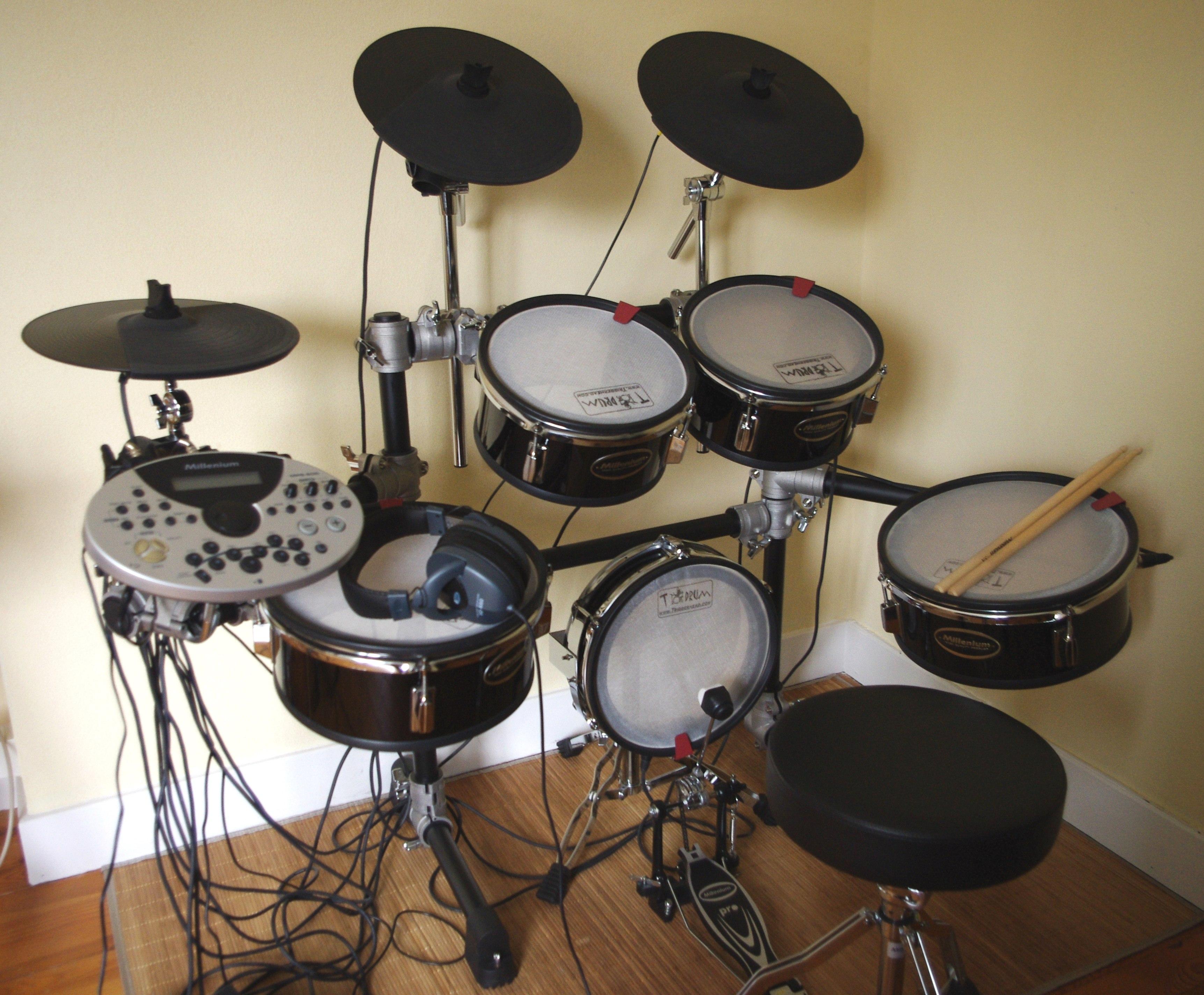 photo millenium mps 600 e drum set millenium millenium mesh head mps 600 e drum set 572402. Black Bedroom Furniture Sets. Home Design Ideas