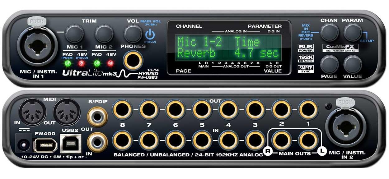 motu ultralite mk3 hybrid image 421822 audiofanzine rh en audiofanzine com