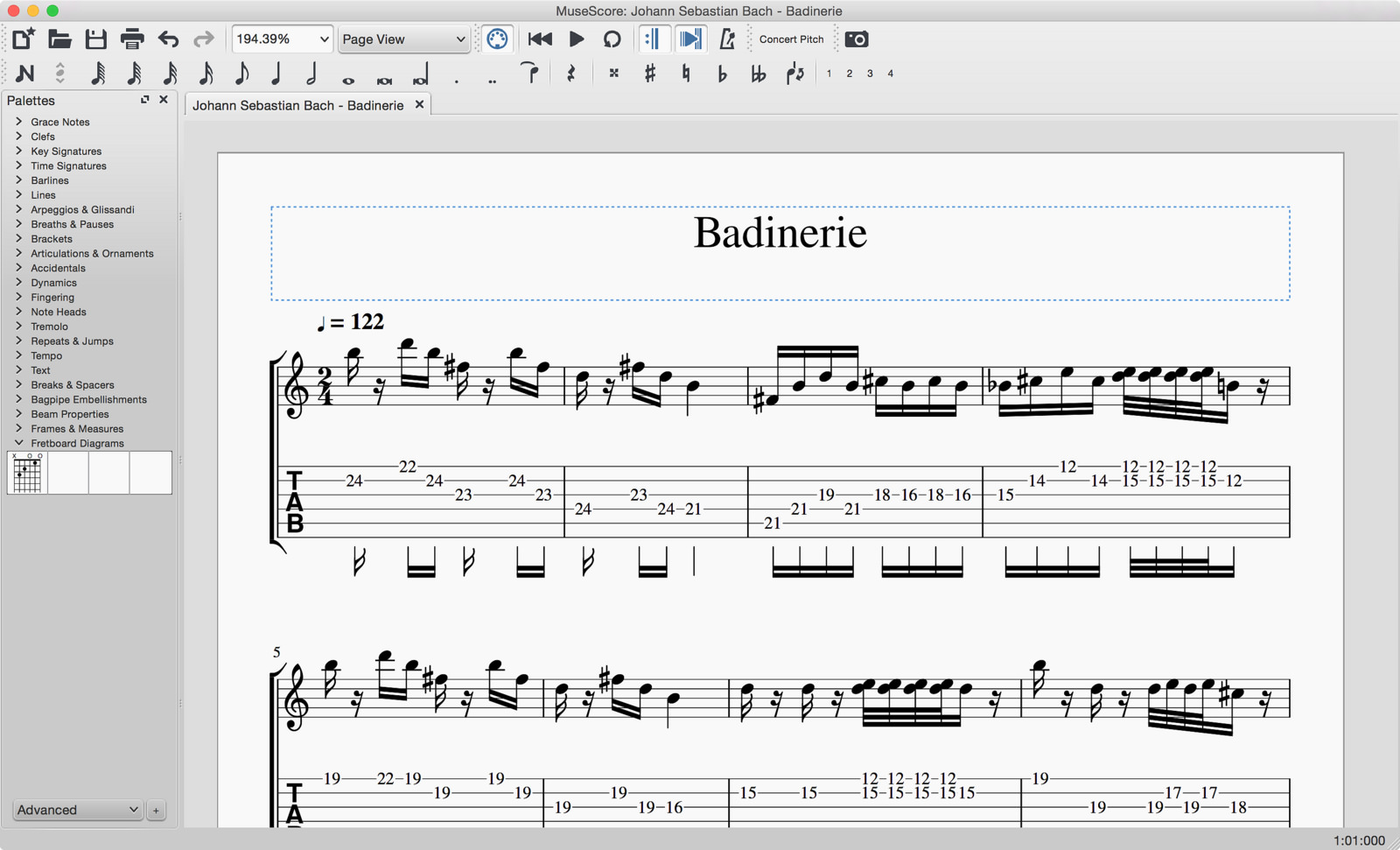 Music Composition and Music Notation Software