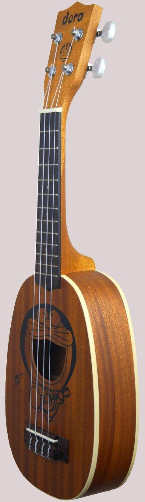 chard pineapple soprano ukulele with laser etching