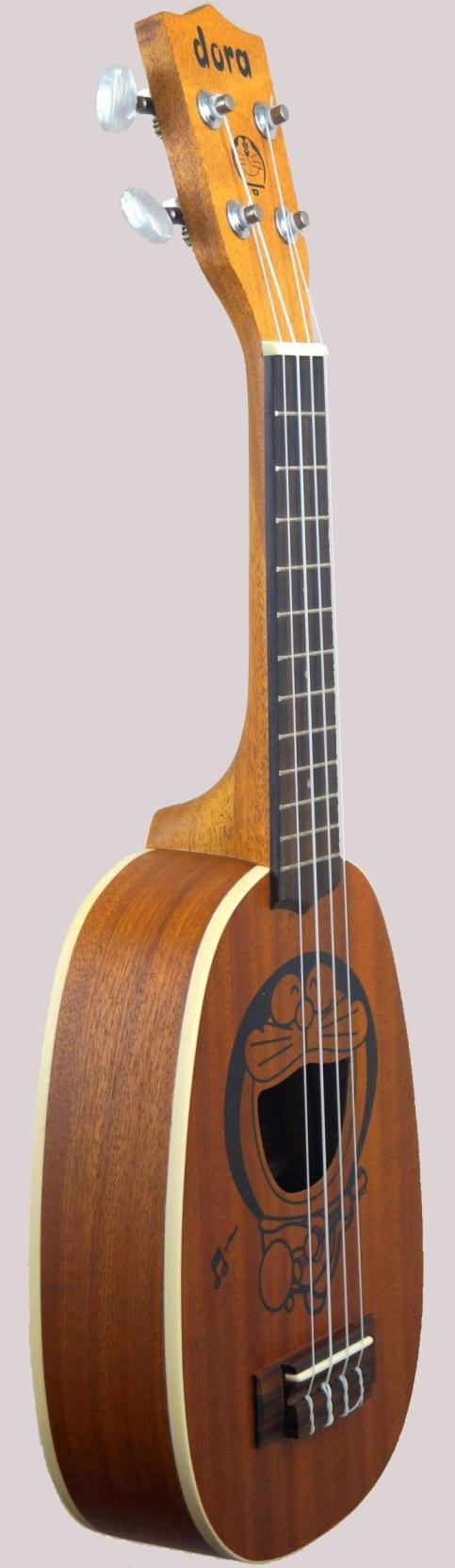 chinese made pineapple soprano ukulele with laser etching