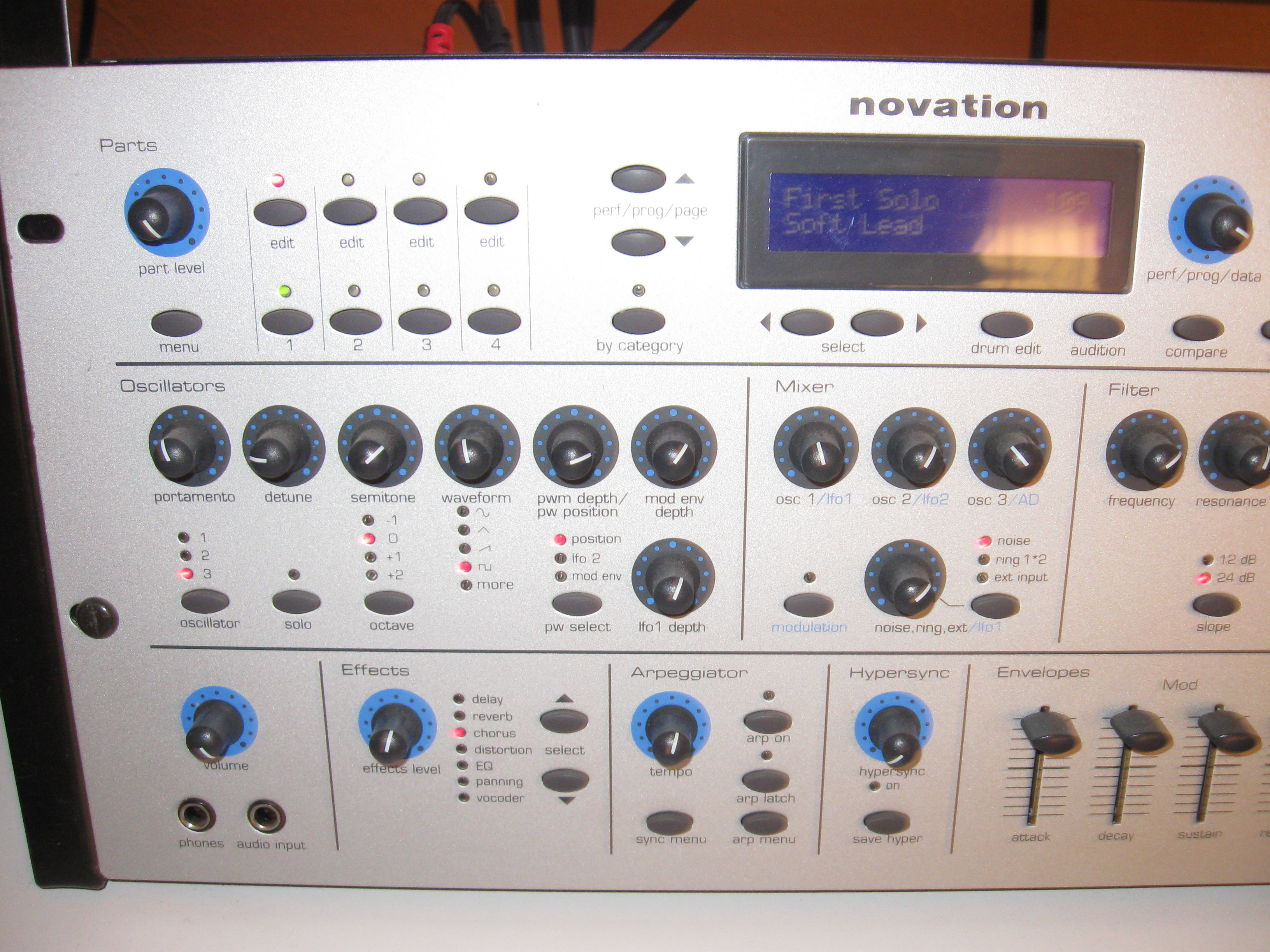 novation bass station rack manual