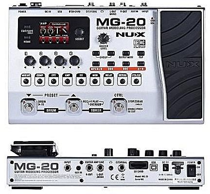 NUX MG-20 Electric Guitar Multi-effects Processor with Drum machine Looper...