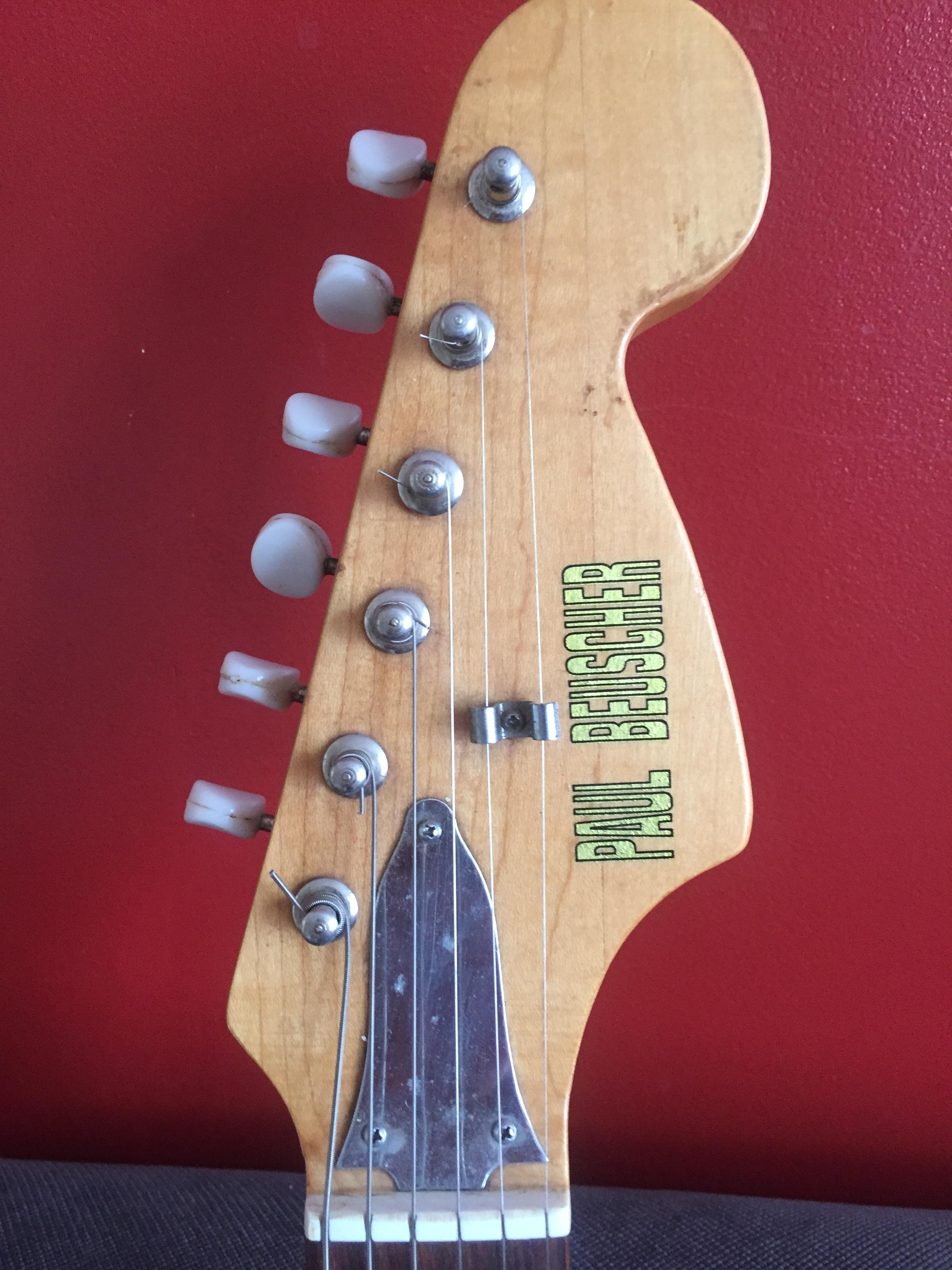 guitare electrique paul beuscher