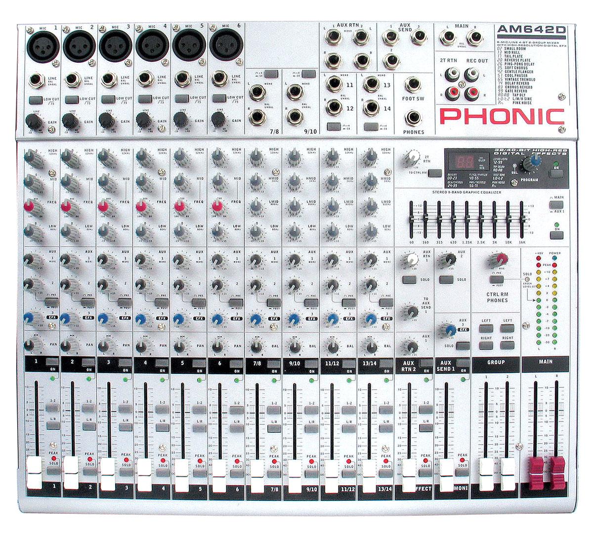 table de mixage phonic