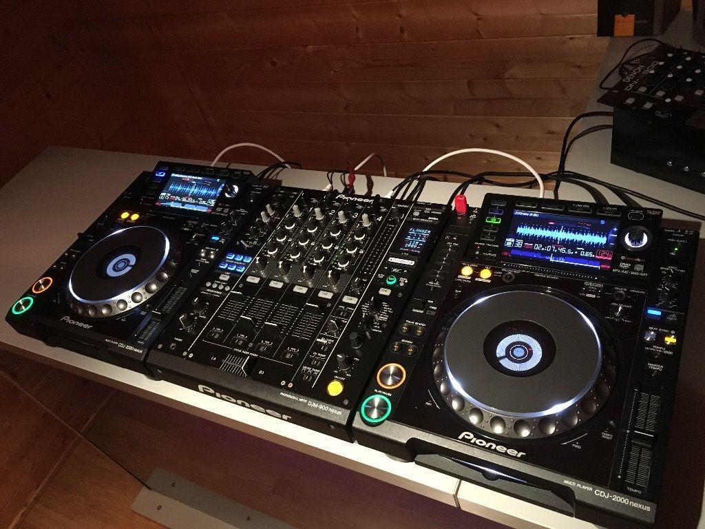 Donne 2 pioneer cdj 2000 avec la table de mixage djm 900 - Table de mixage pioneer djm 2000 ...