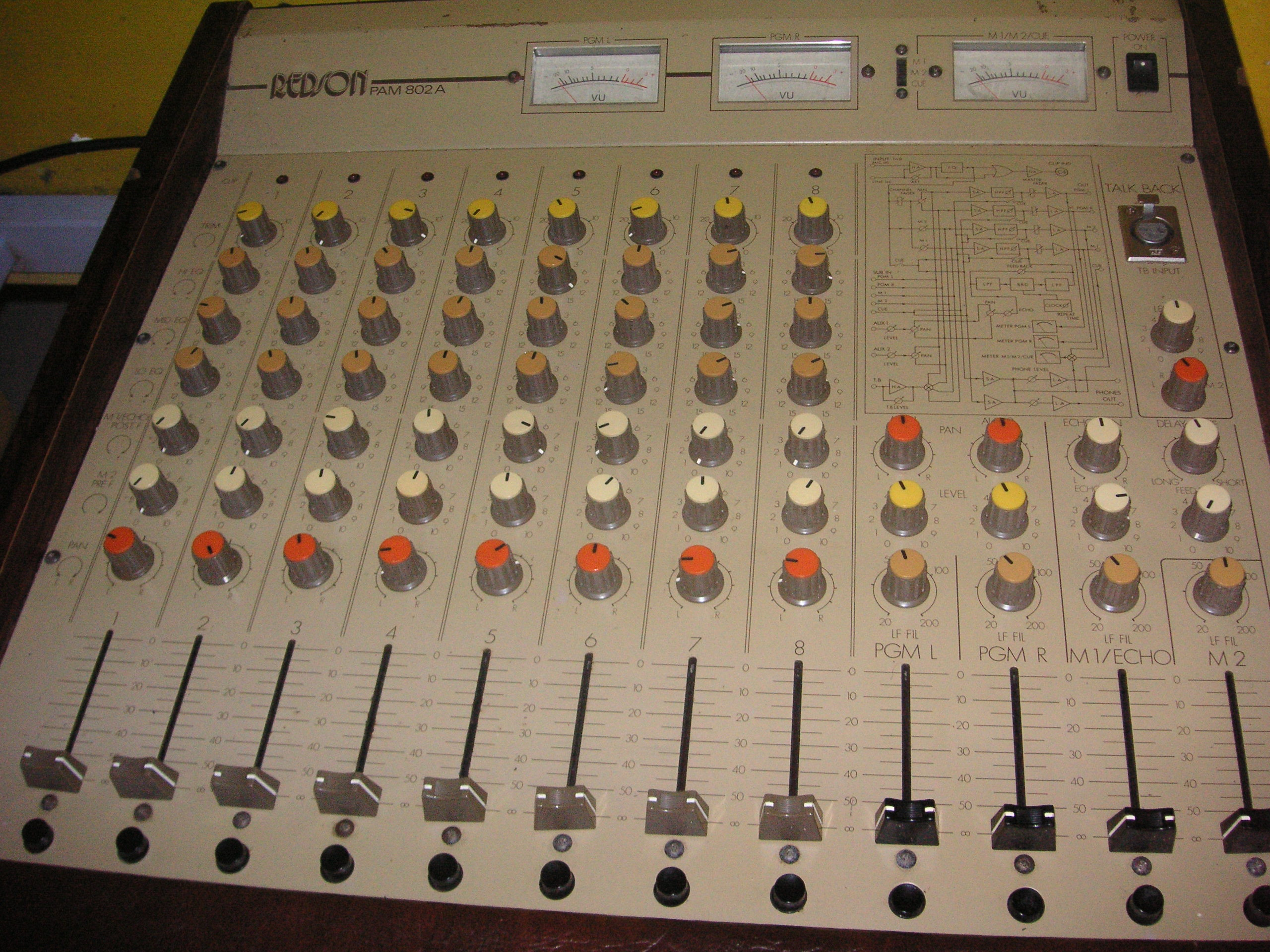 table de mixage 8 pistes