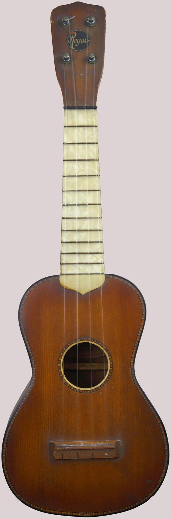 1920s Regal Black Label Soprano perloid fretboard at Ukulele Corner