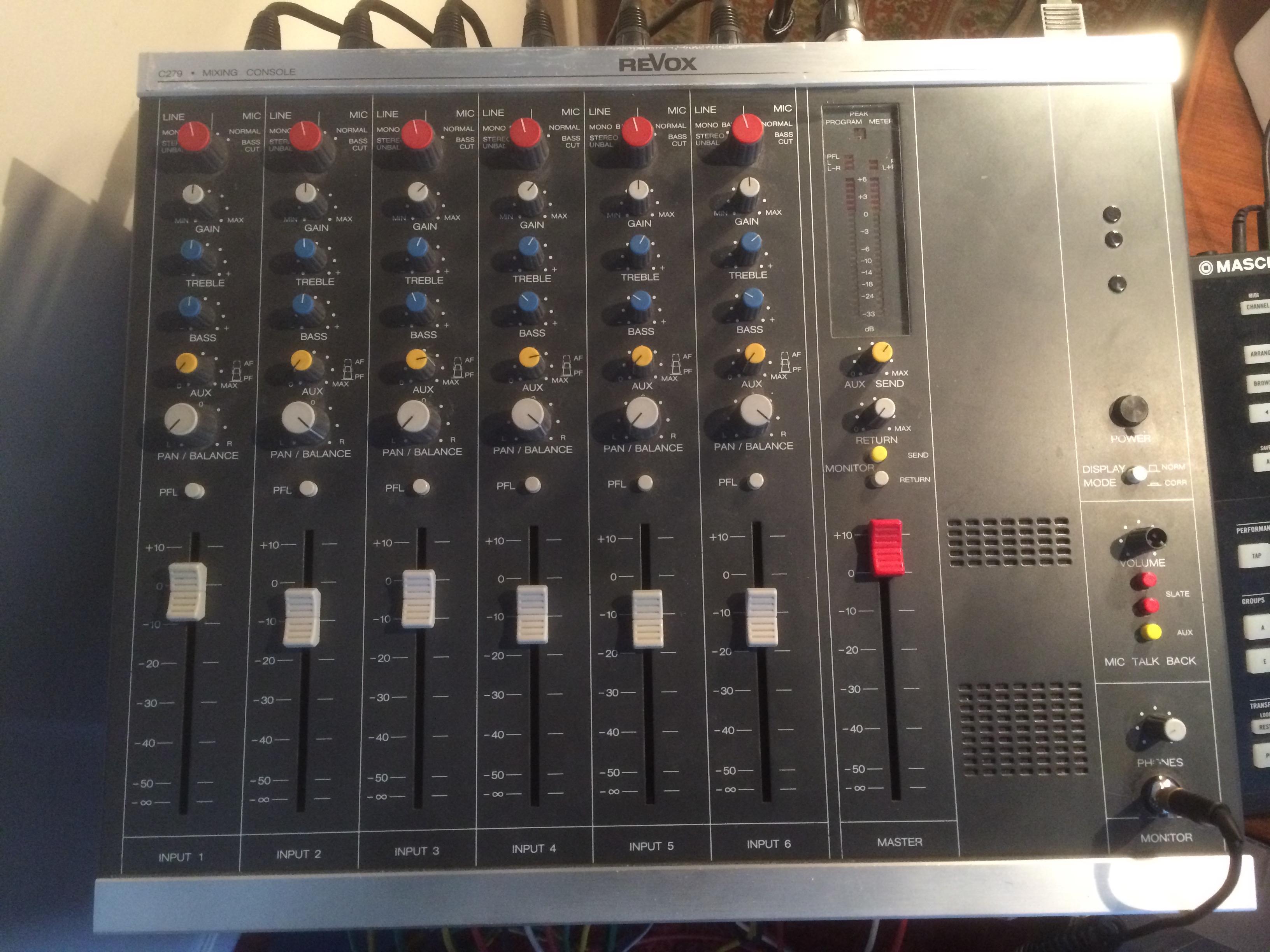 Photo revox c279 revox c279 76490 1612560 audiofanzine - Console analogique occasion ...