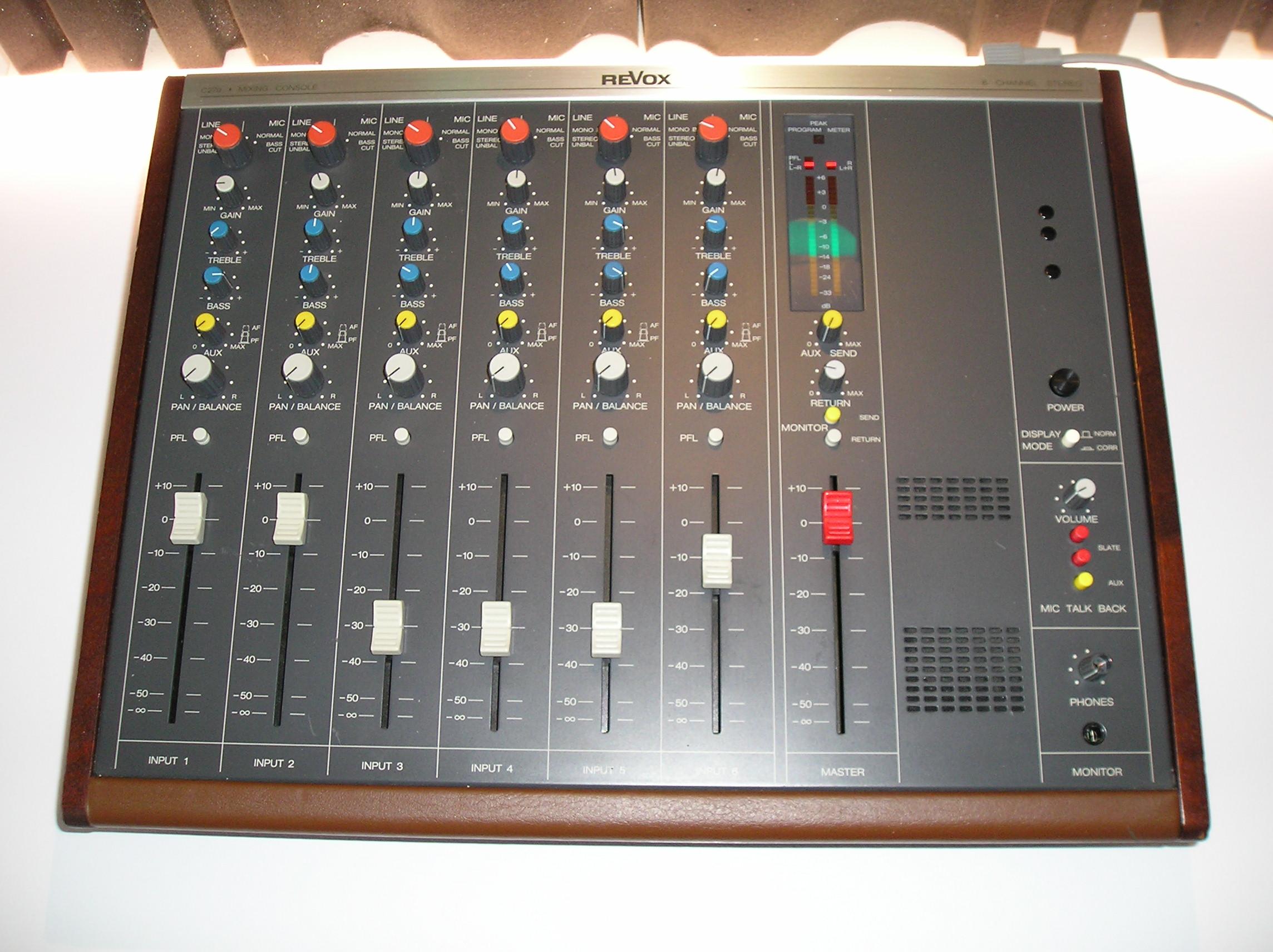 Photo revox c279 p1010197 jpg 1716979 audiofanzine - Console analogique occasion ...