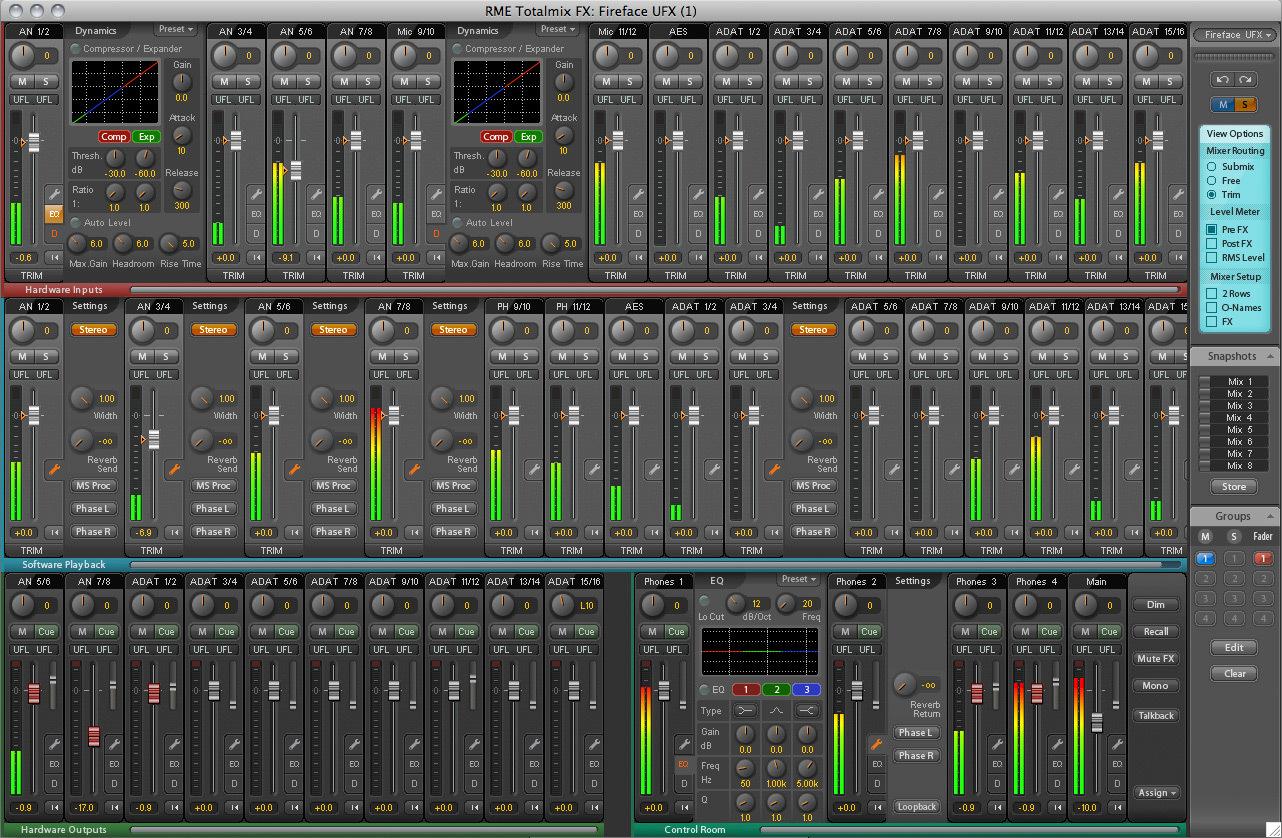 Test de la rme fireface ufx arme d 39 enregistrement massif audiofanzine Comment choisir une table de mixage