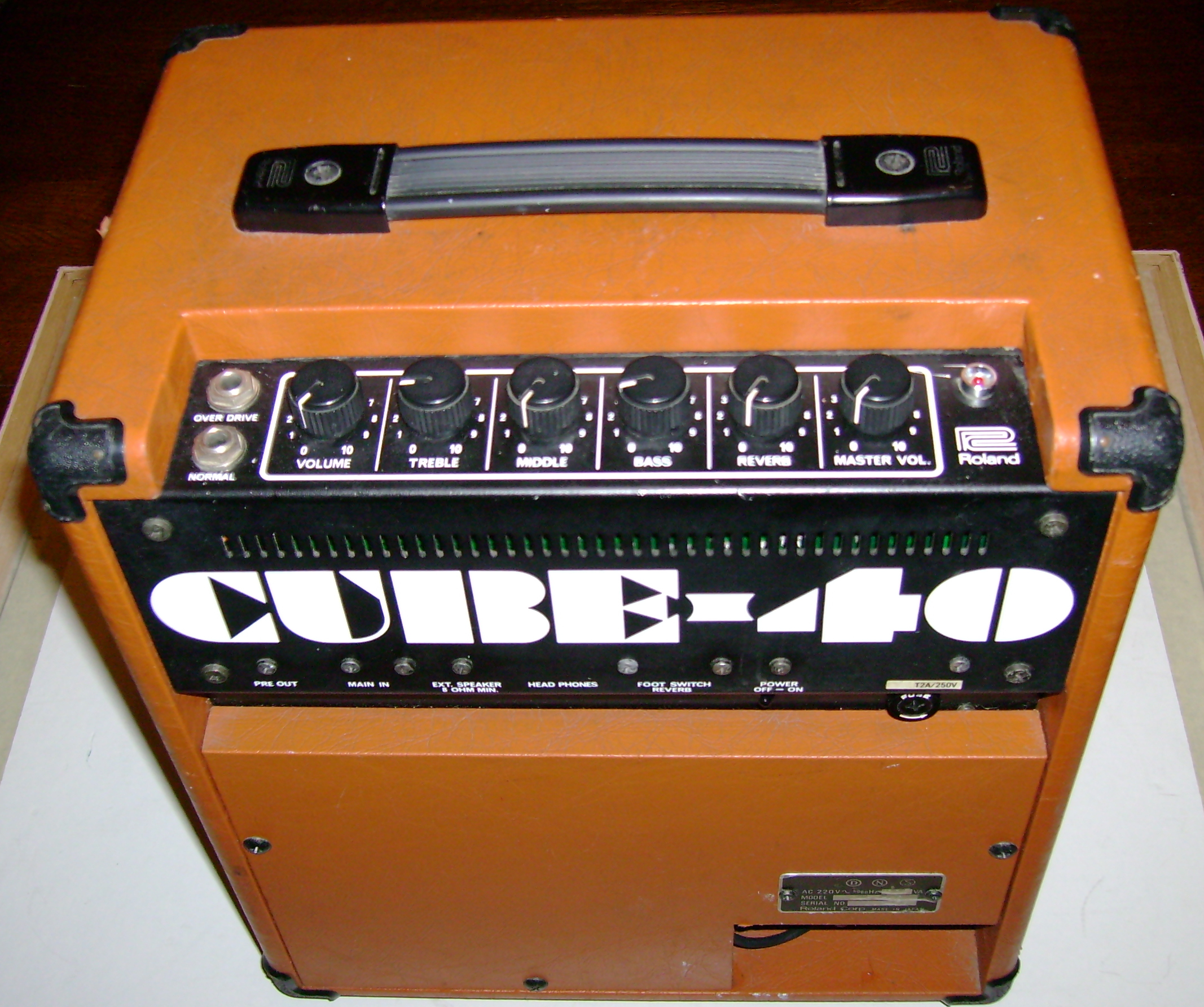 Roland Cube St R レッド ギターアンプ Battery Powered Stereo ローランド