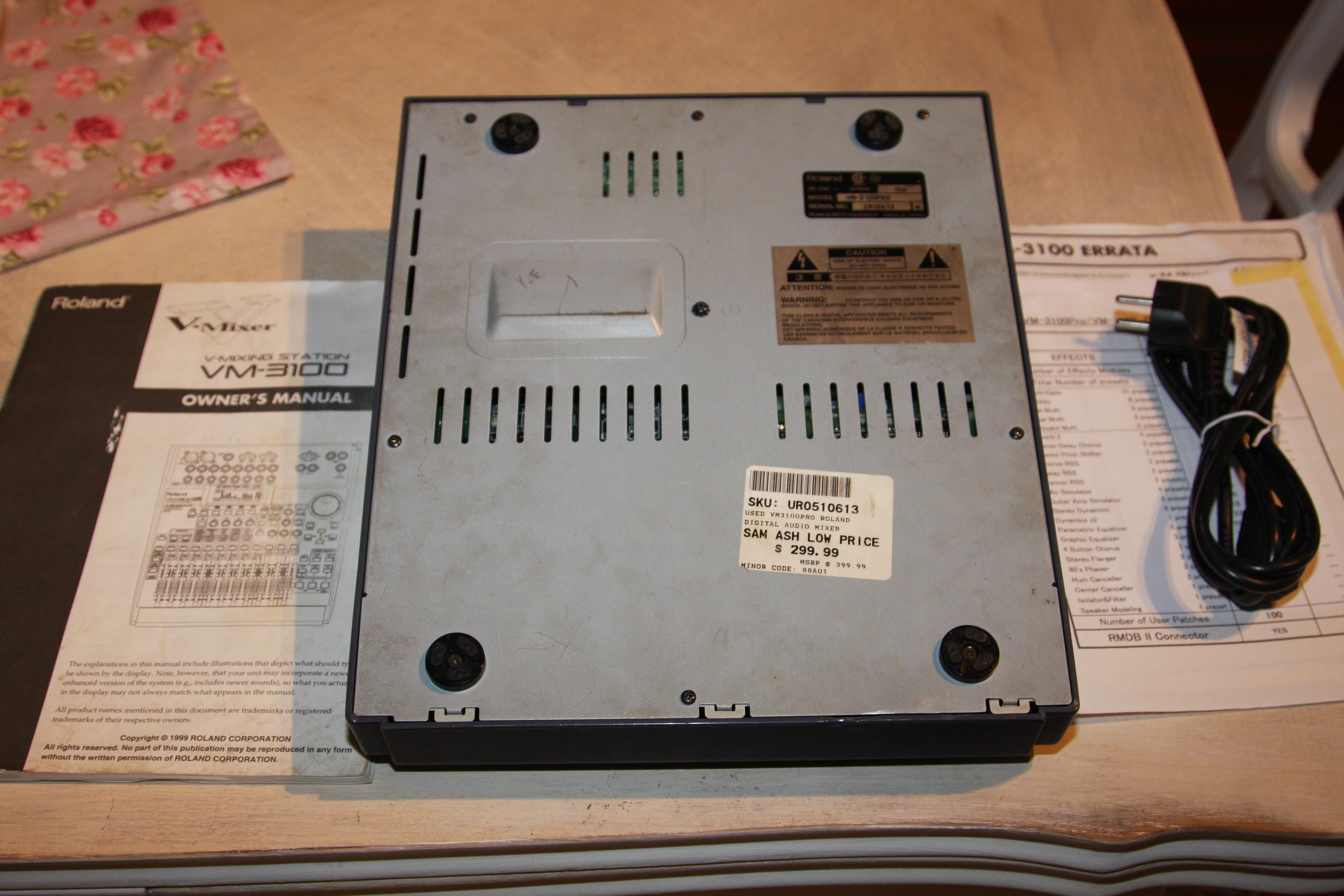 Roland vm 3100 pro инструкция