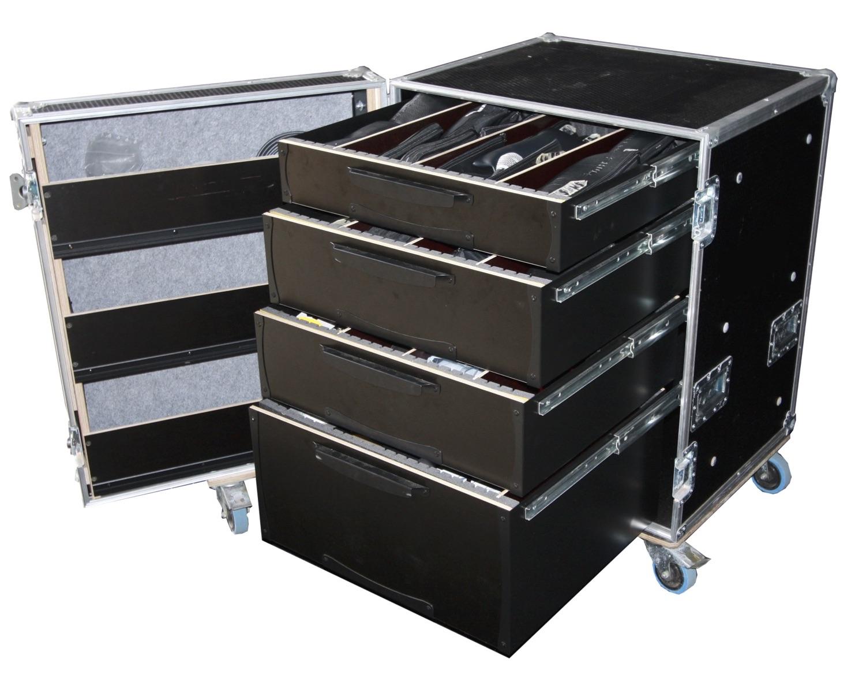 flight case de rangement s rie classique 4 tiroirs. Black Bedroom Furniture Sets. Home Design Ideas