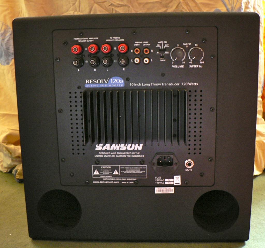 regolazione sub/diffusori  Samson-technologies-resolv-120a-416623