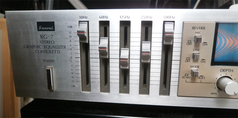 sansui rg 7 stereo graphic equalzier consolette image 1521013 rh en audiofanzine com RG7 Cable Specifications Roland RG7