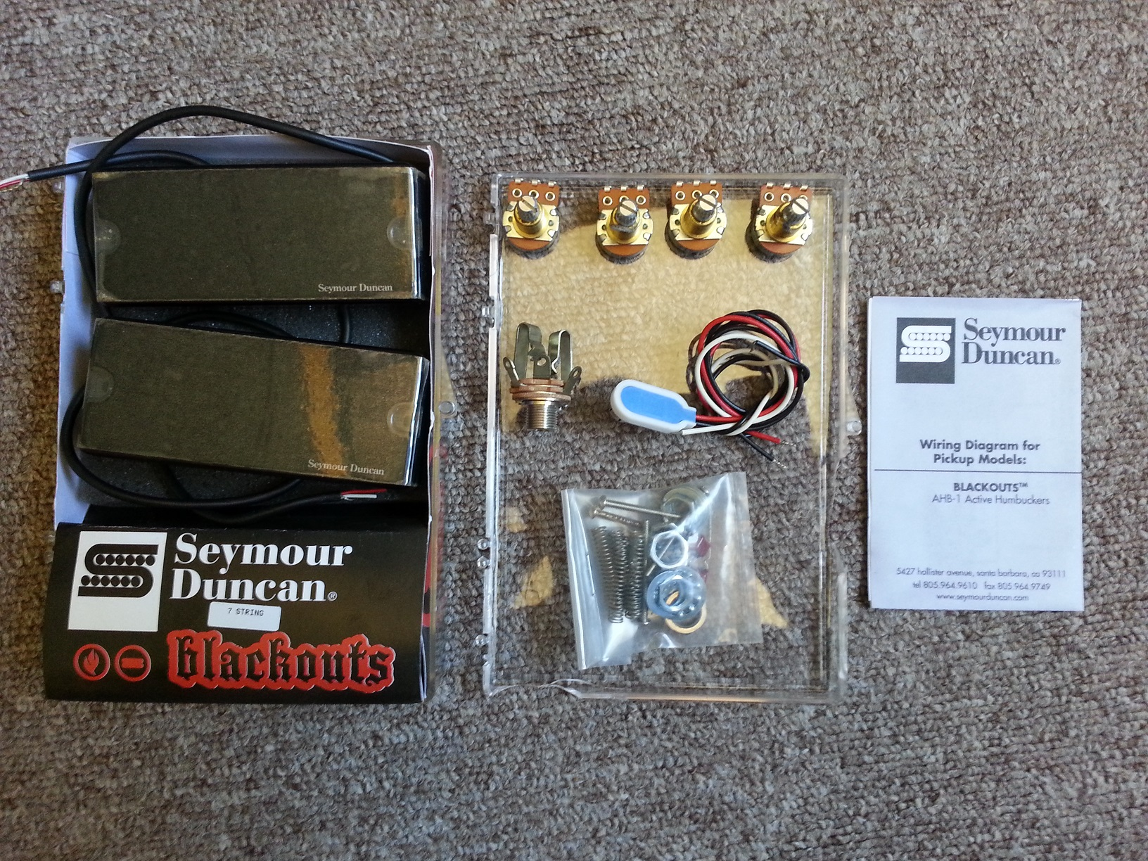 Seymour Duncan Blackouts Wiring Kit - Wiring Solutions