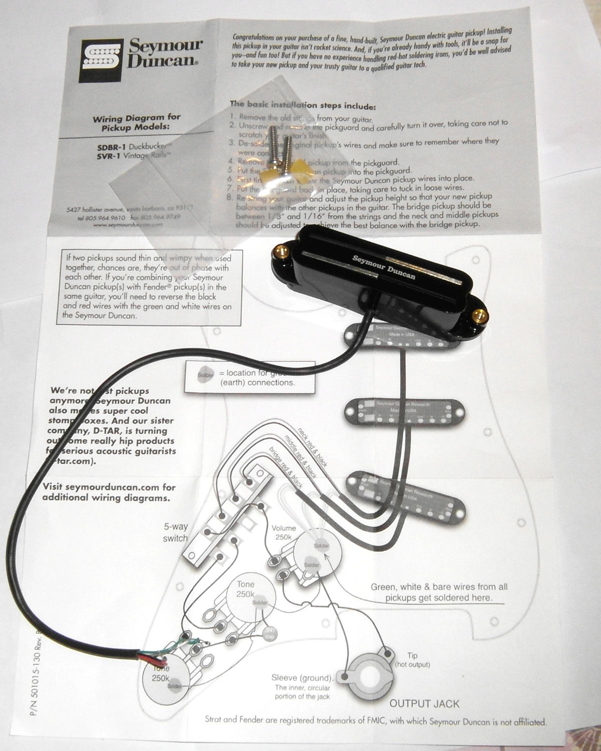 Seymour Duncan Vintage Wiring - Block And Schematic Diagrams •