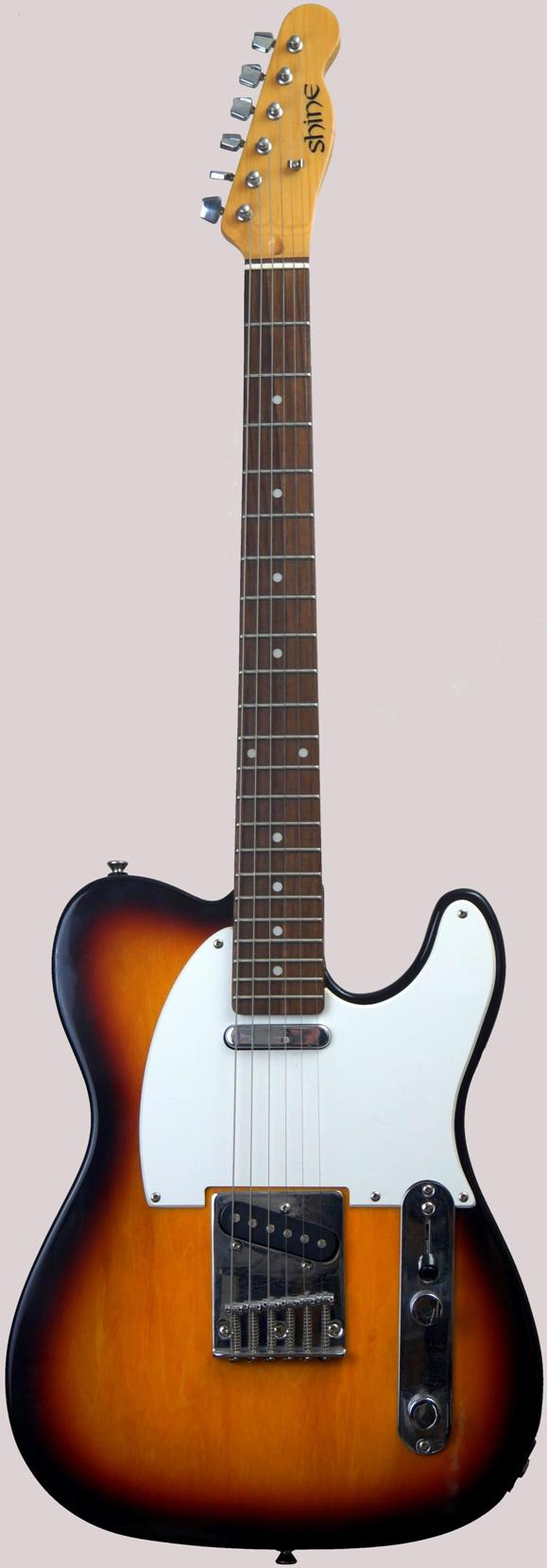 Shine si30 Telecaster sunburst guitar at Ukulele Corner