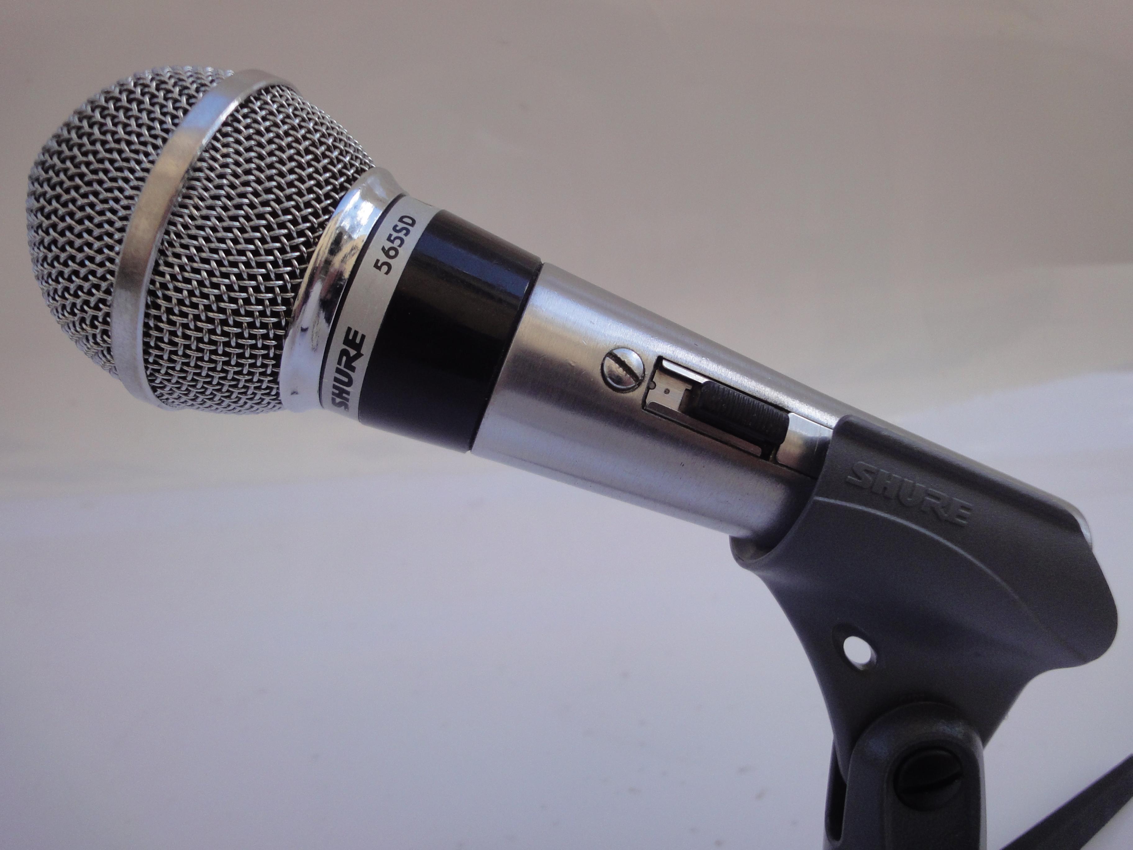 microphone des annees 70 shure 565 sd lc le top cette poque ile de france audiofanzine. Black Bedroom Furniture Sets. Home Design Ideas