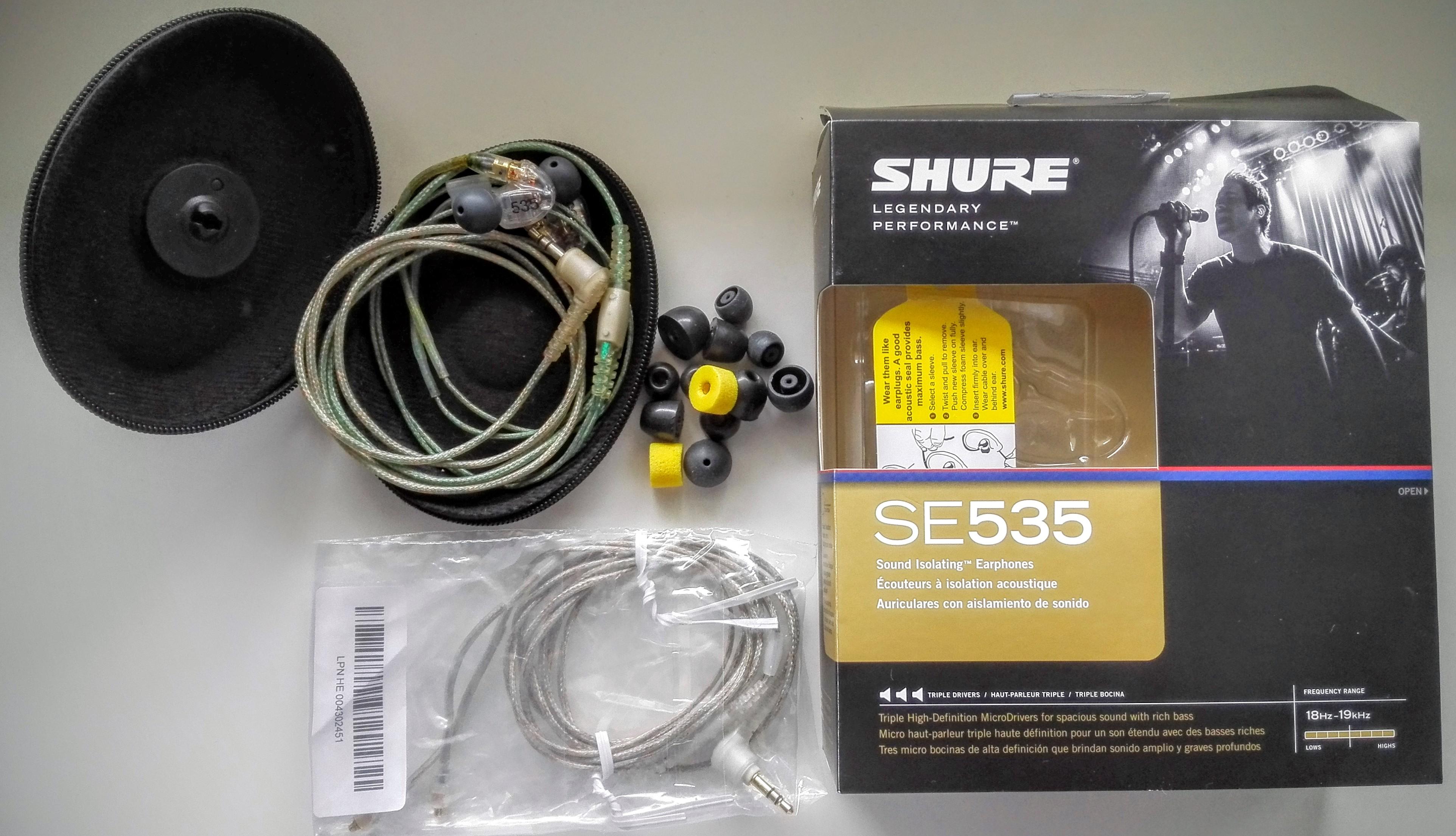 shure se 535 casque ear monitor champagne ardenne audiofanzine. Black Bedroom Furniture Sets. Home Design Ideas