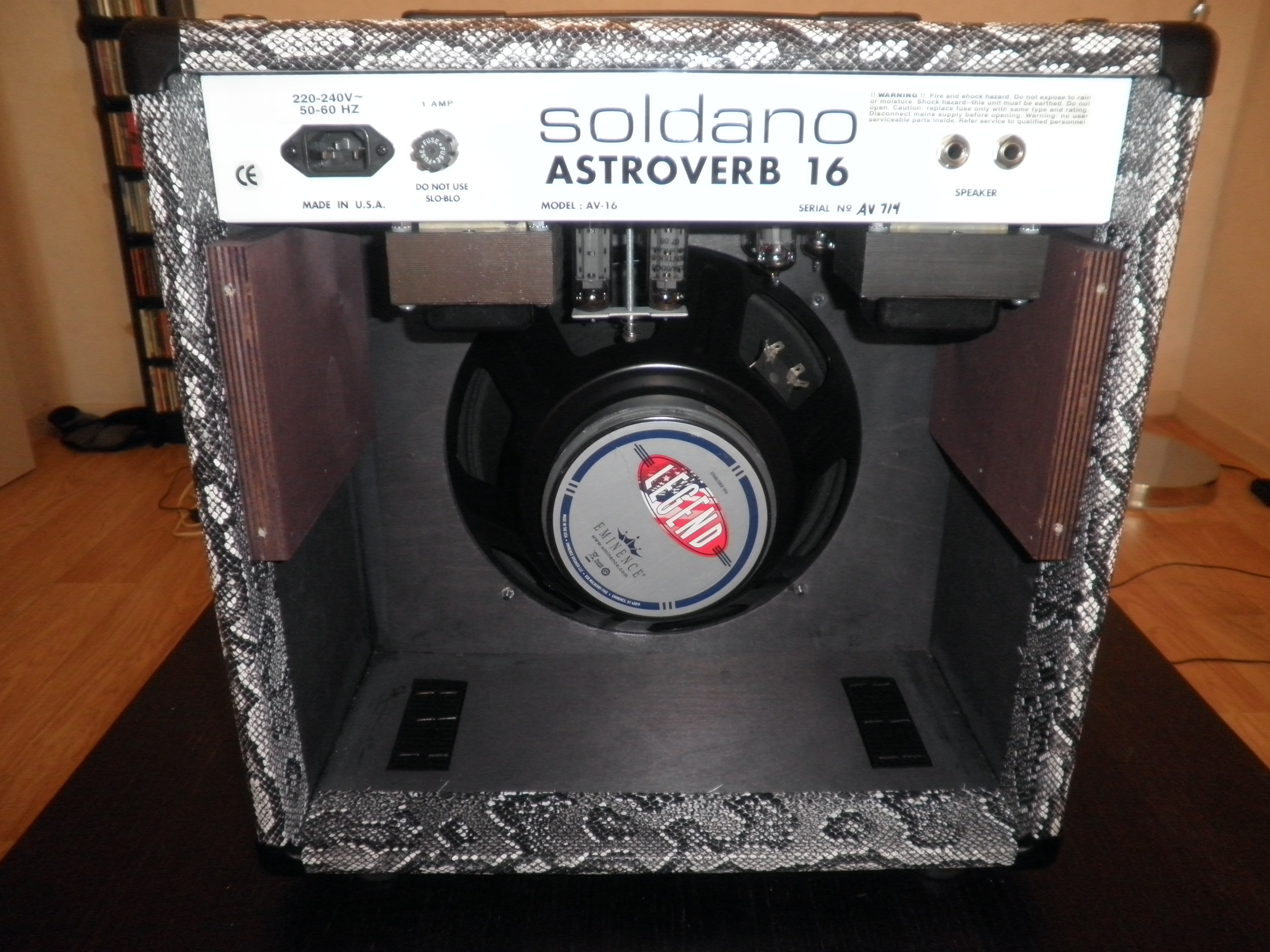 Soldano Astroverb 112 1x12 Tube Guitar Combo Amp ...