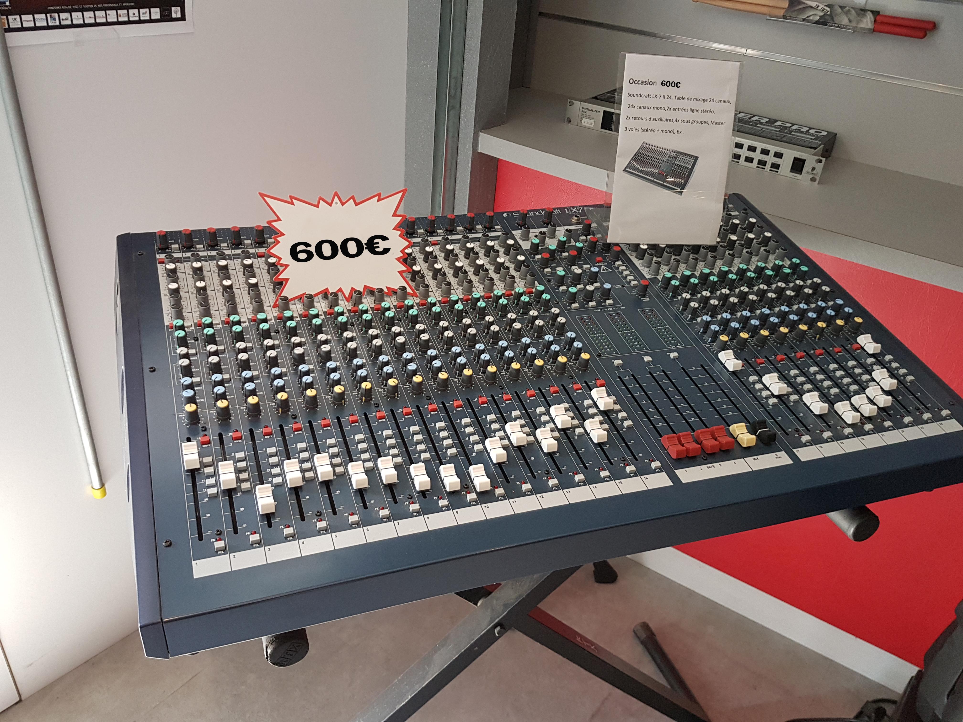 Vend table de mixage soundcraft lx 7 ii 24 franche comt - Table de mixage en ligne gratuit ...