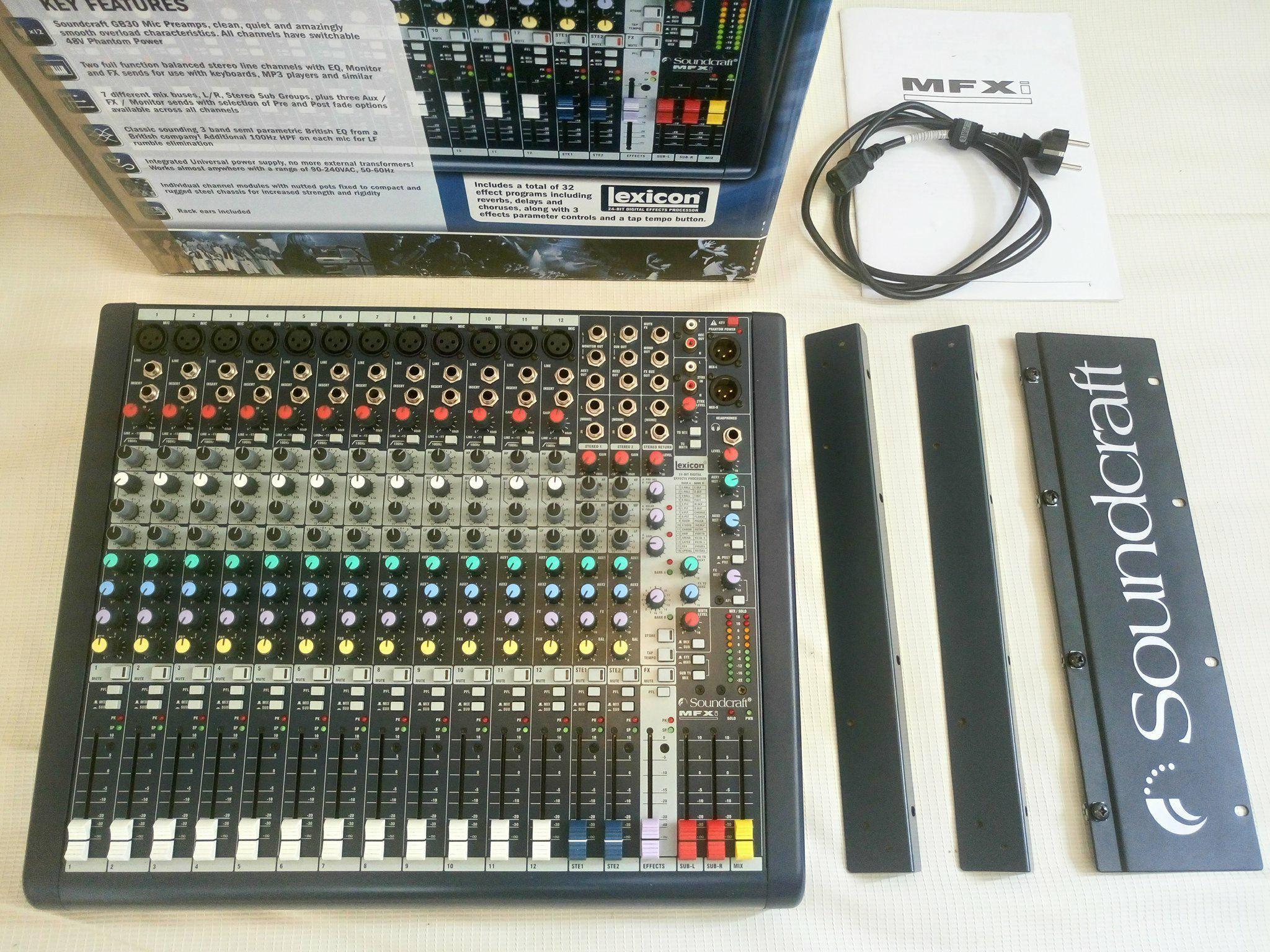 Vends console de mixage analogique soundcraft mfxi 12 rackmount rw5765 rh ne alpes - Console analogique occasion ...