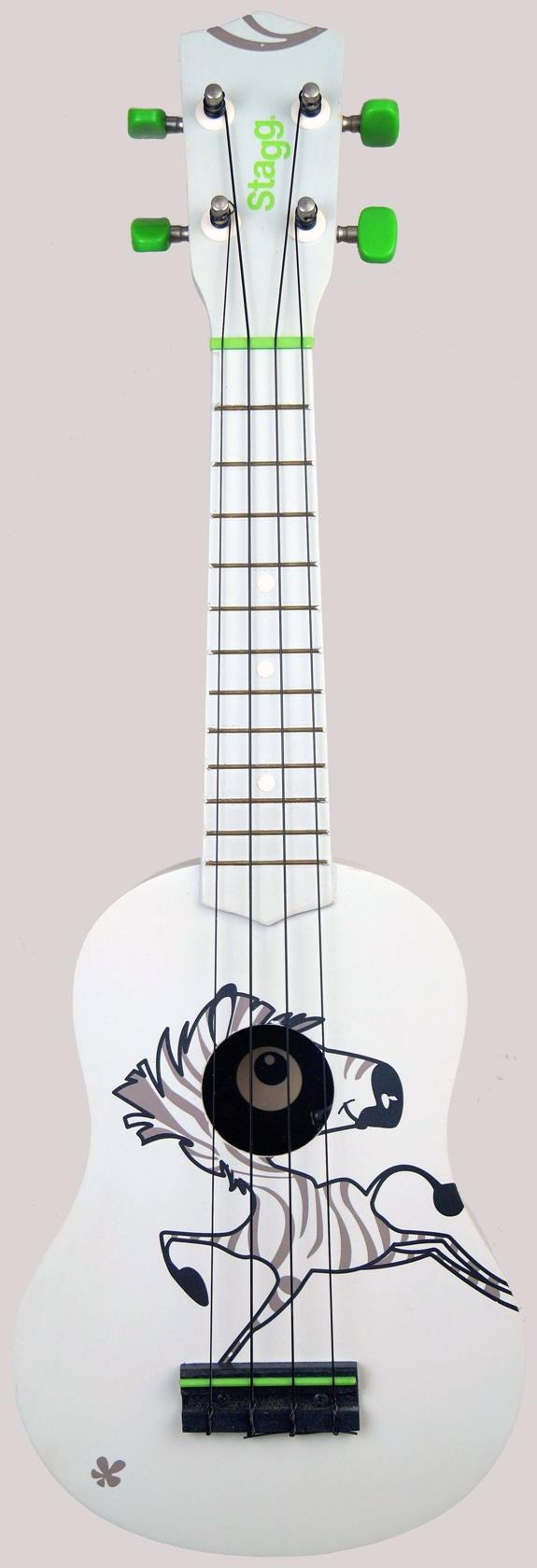 Stagg Zebra safari graphic Soprano Ukulele
