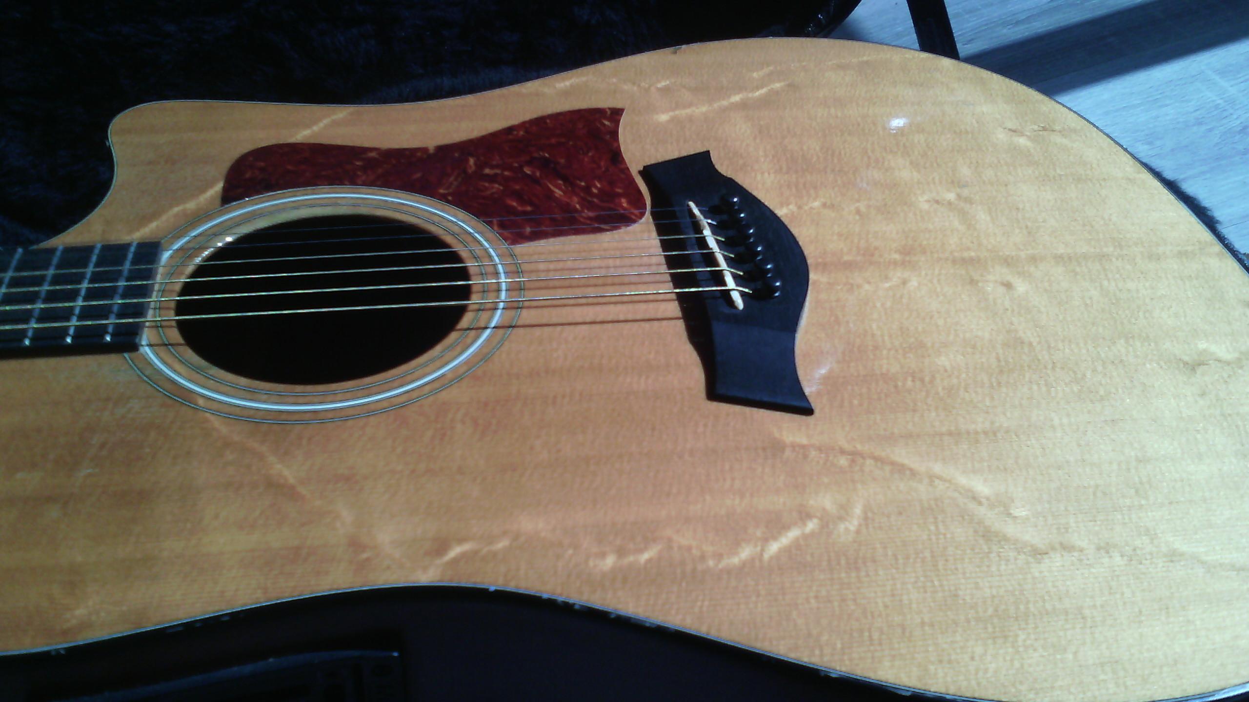 guitares electro acoustiques taylor 110ce es2 dreadnought cutaway + housse folk electro