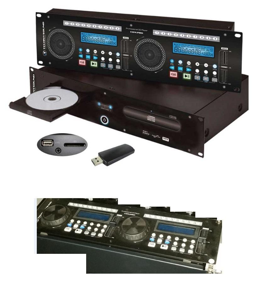 photo technysound cdx780 double lecteur cd usb pro. Black Bedroom Furniture Sets. Home Design Ideas
