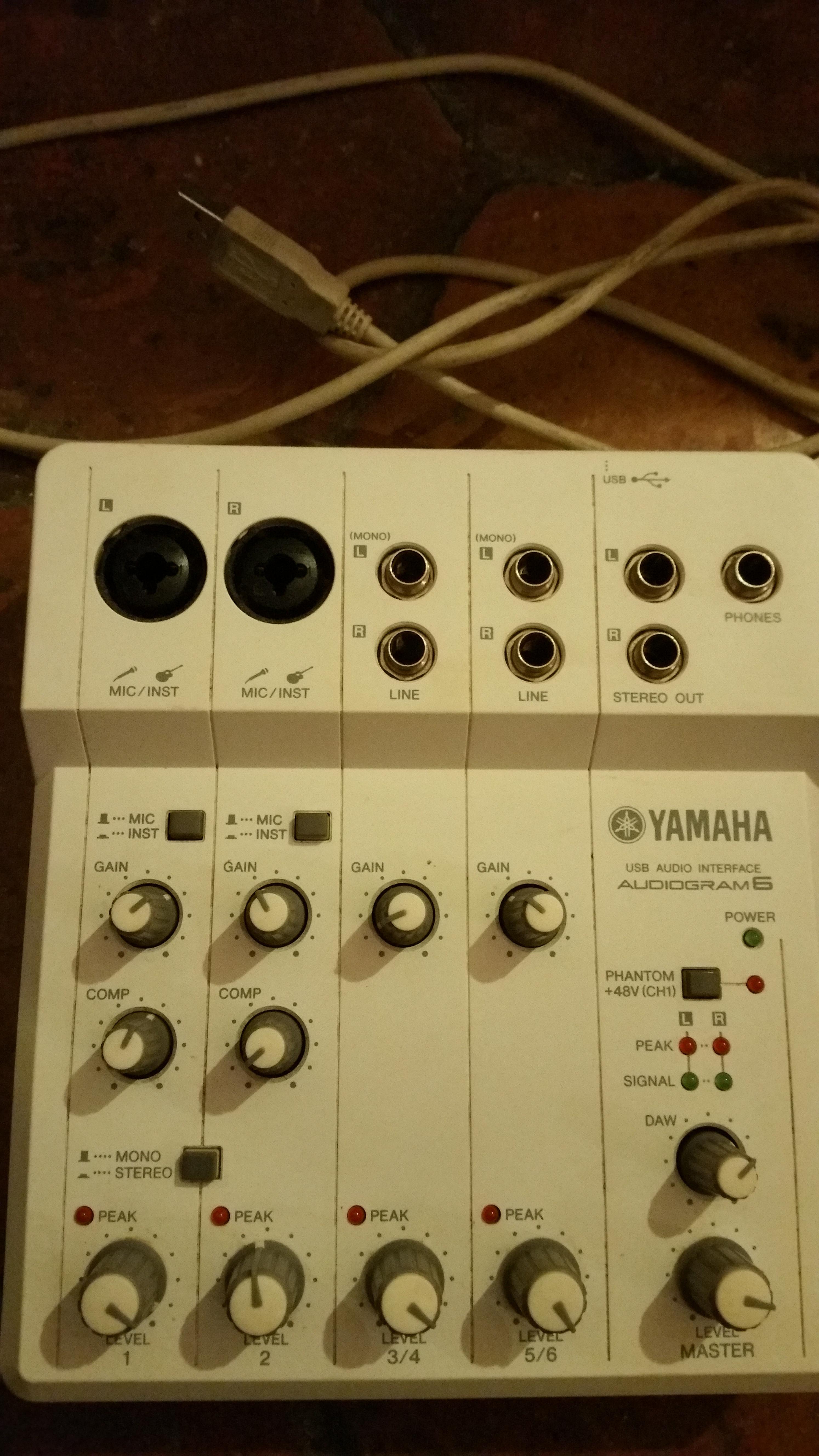 carte son yamaha audiogram 6