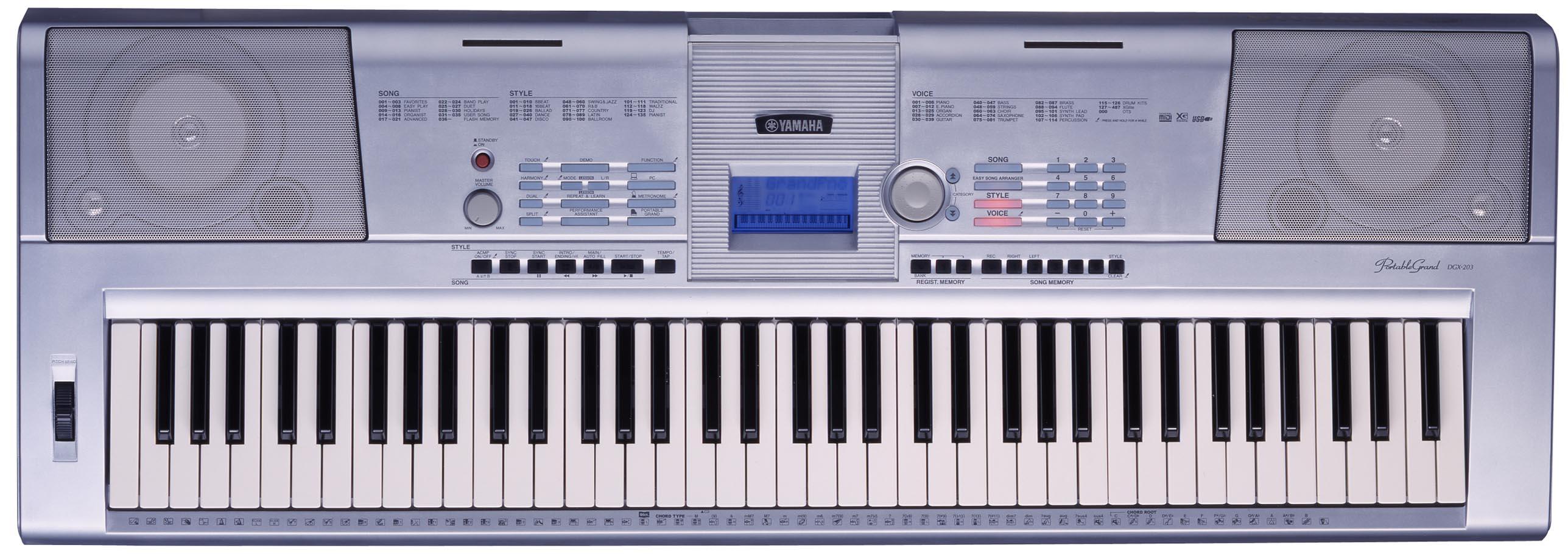 Yamaha dgx 205 image 631755 audiofanzine for Yamaha dgx 200 portable grand keyboard