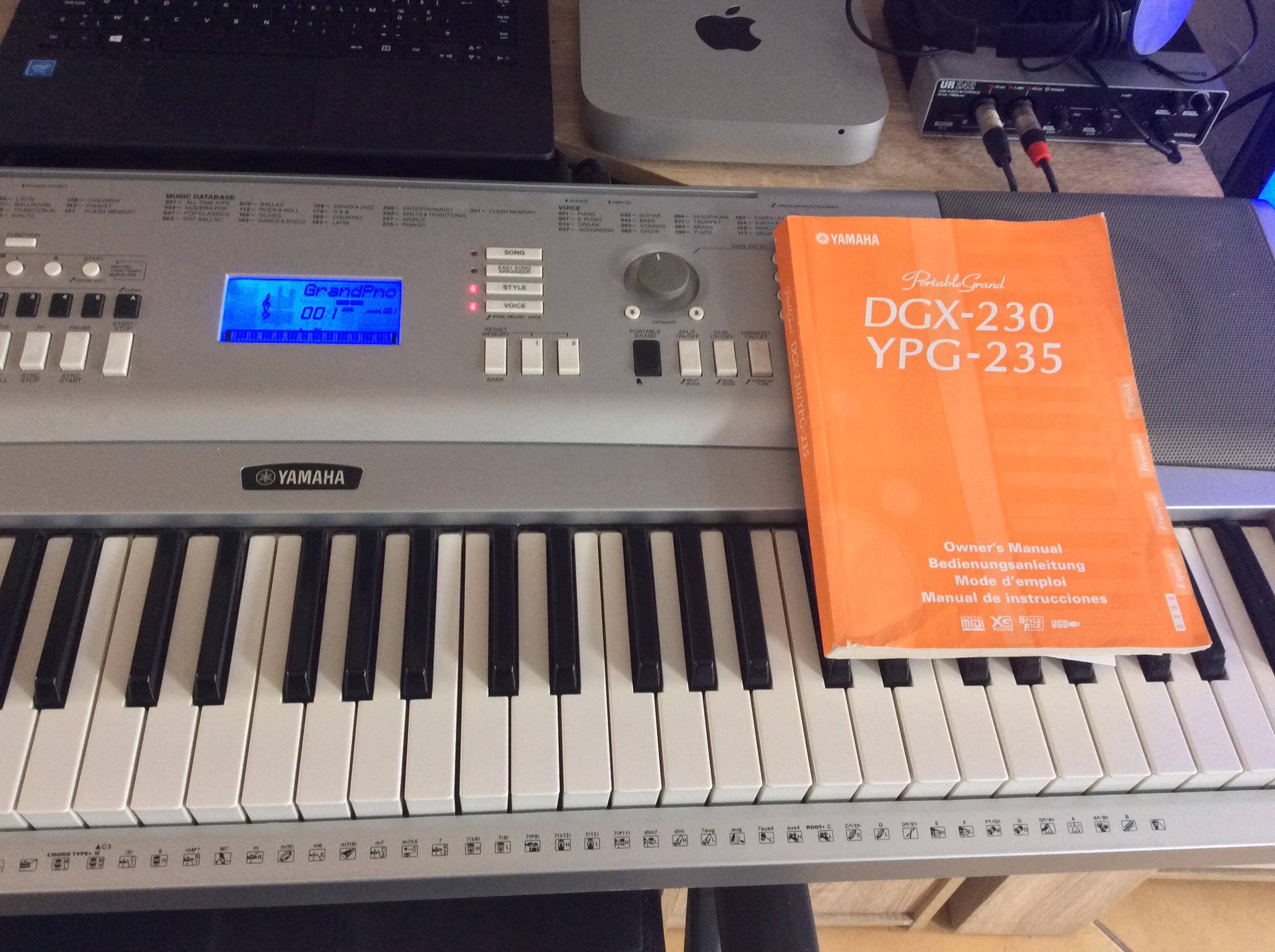 yamaha dgx 230 image 1485484 audiofanzine rh en audiofanzine com yamaha dgx-230 manual español yamaha dgx 230 service manual
