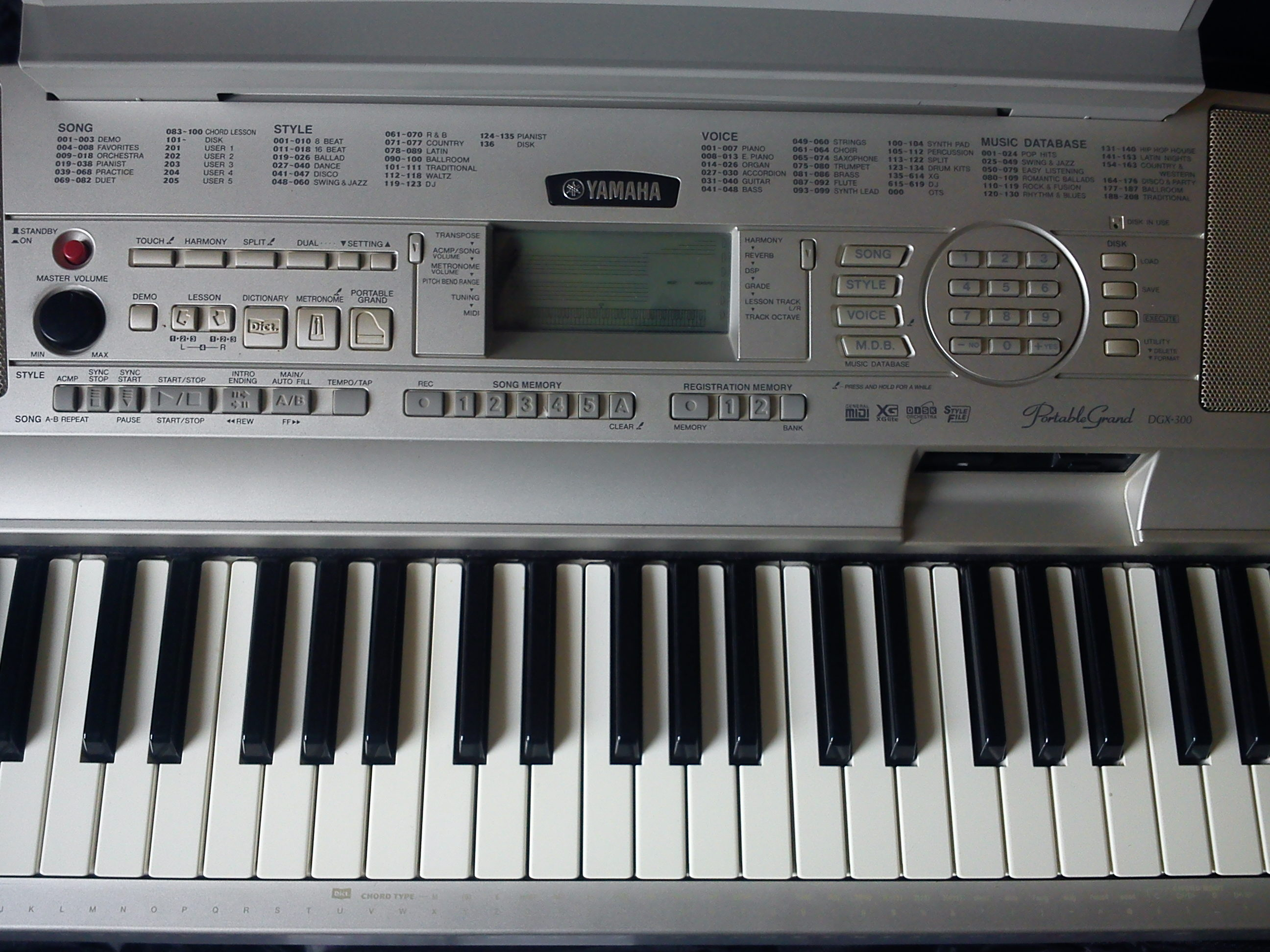 Yamaha dgx 300 image 1674005 audiofanzine for Yamaha dgx 230 manual