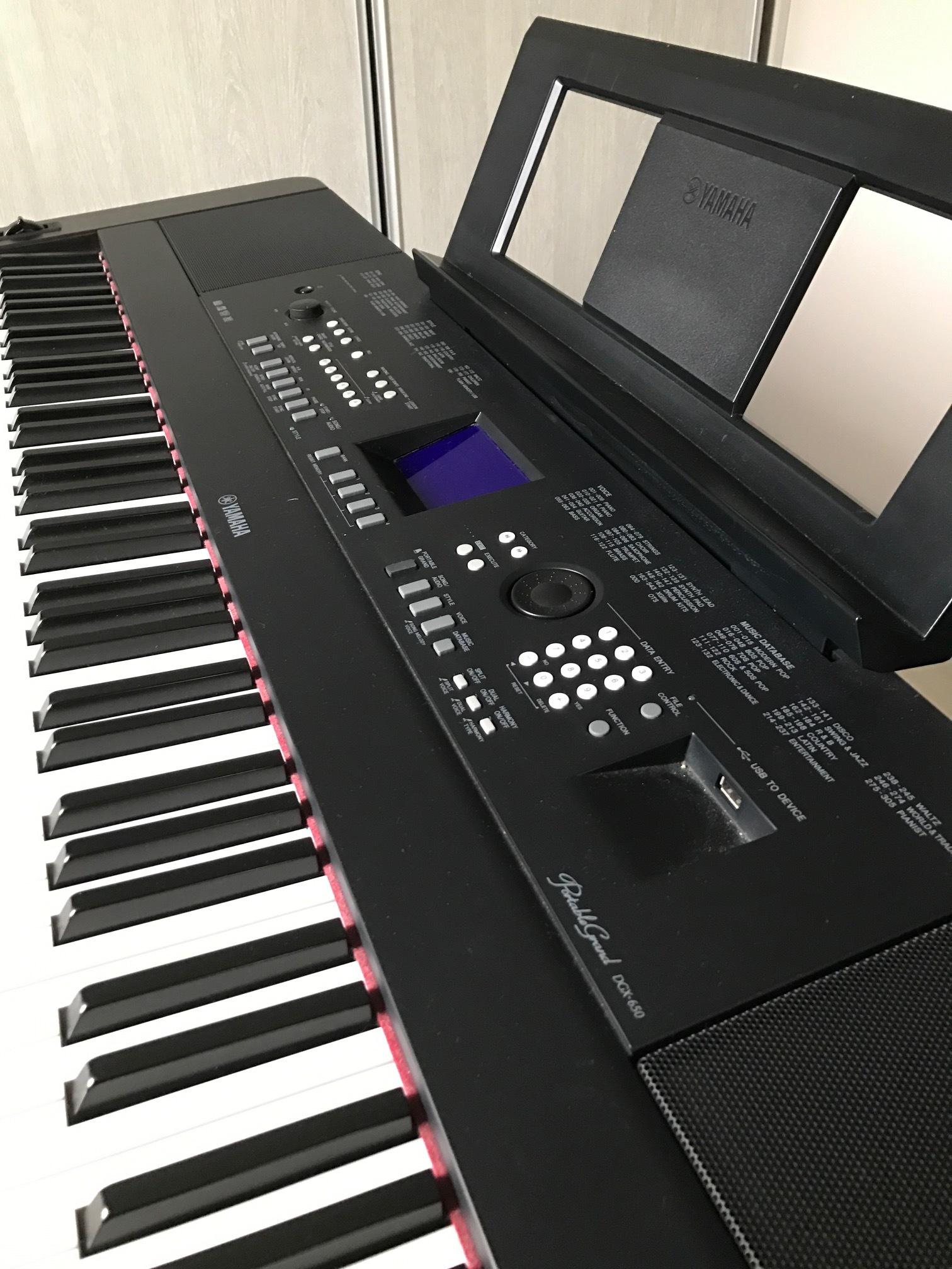 Photo yamaha dgx 650 yamaha dgx 650 74040 1673505 for Yamaha 650 piano