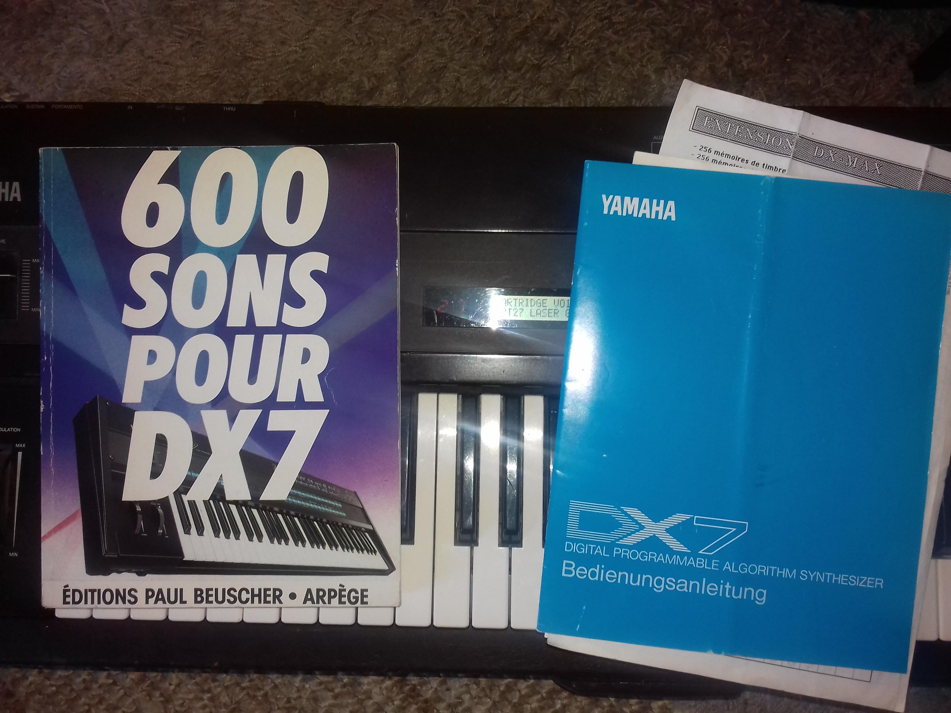 Yamaha DX7 Voice Rom 1 et 2 - Audiofanzine