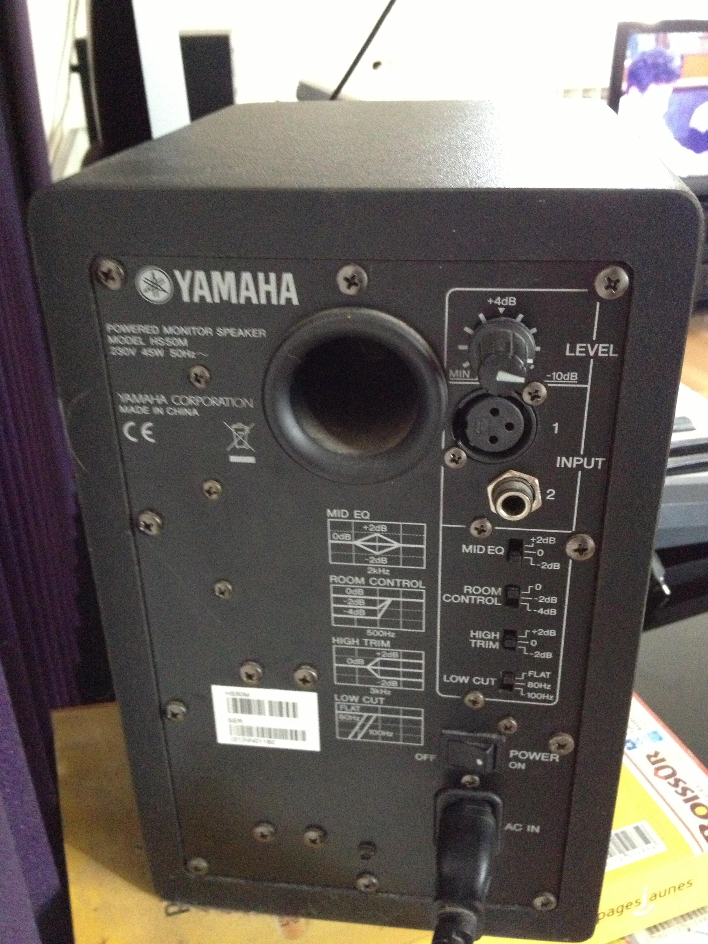 Yamaha hs50m image 480697 audiofanzine for Yamaha hs50m review