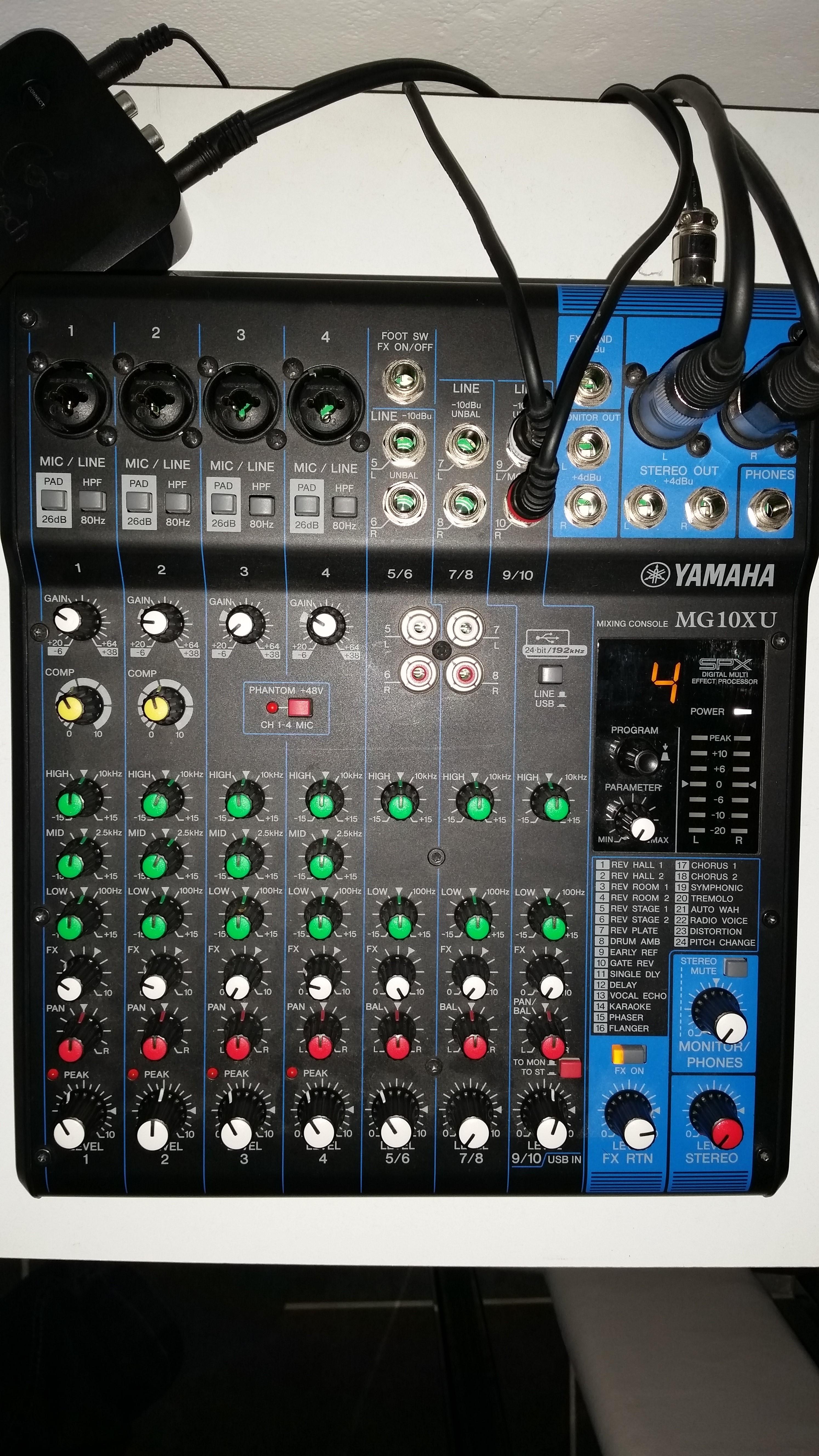 Yamaha mg10xu image 1038738 audiofanzine for Yamaha mg10xu review